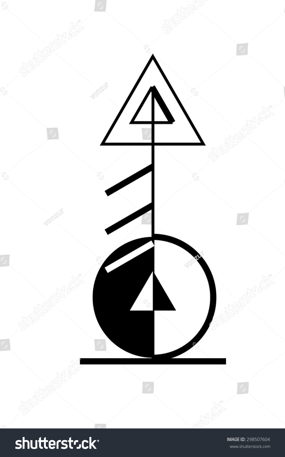 Sacred geometry magic runic symbol tattoo stock vector 298507604 sacred geometry magic runic symbol tattoo art stock vector buycottarizona Choice Image