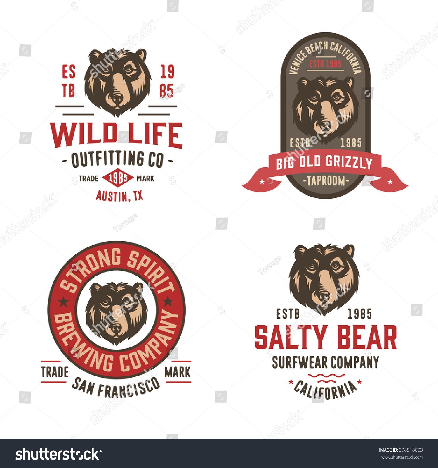 Set Of Badges Labels Logo Design Elements Collection Quality Vintage Emblems T Shirt Apparel Graphics Premium Retro Americana Style Symbols