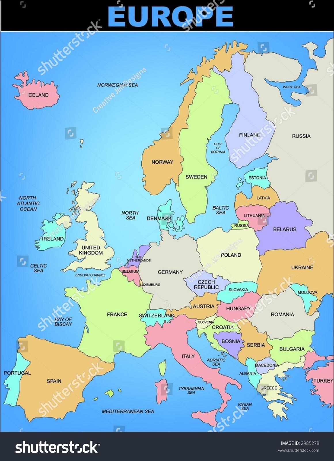 Picture of: Vector De Stock Libre De Regalias Sobre Map Europe2985278