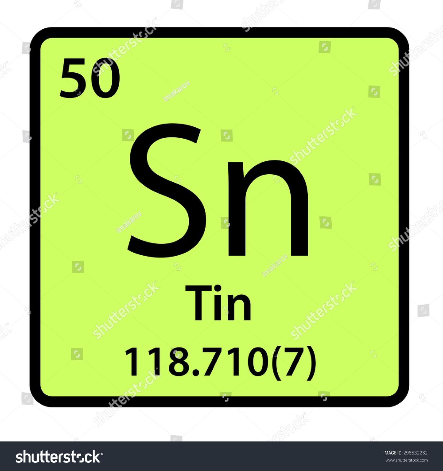 Element tin periodic table stock illustration 298532282 shutterstock element tin of the periodic table gamestrikefo Gallery