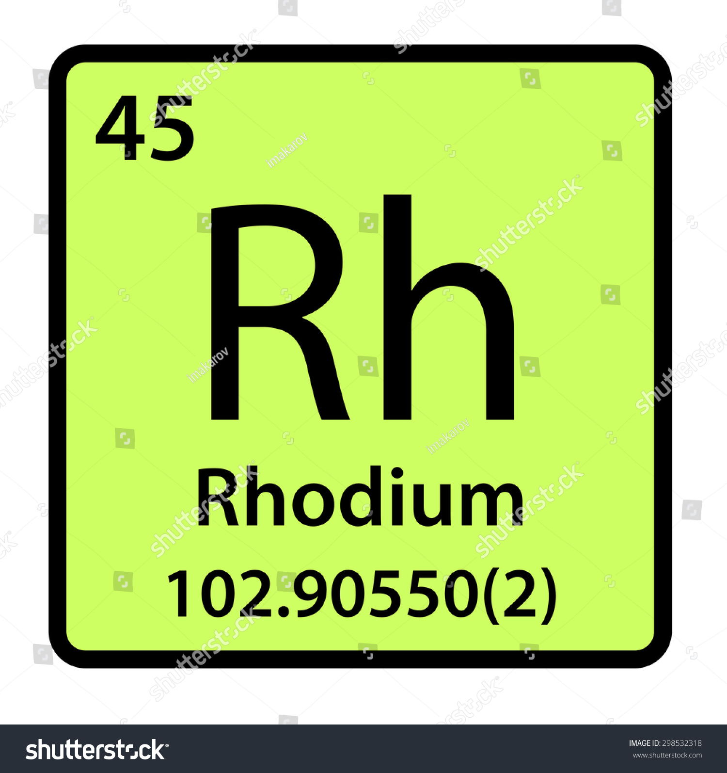 Element rhodium periodic table stock illustration 298532318 element rhodium of the periodic table gamestrikefo Image collections