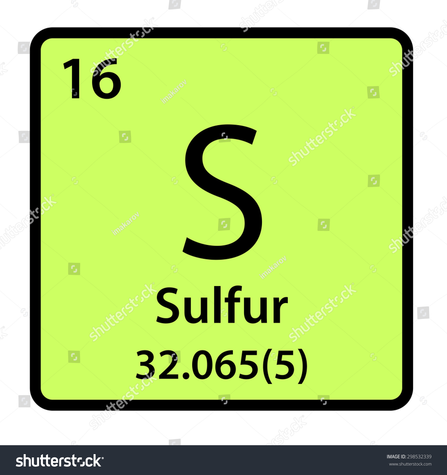 Element sulfur periodic table stock illustration 298532339 element sulfur of the periodic table buycottarizona Image collections