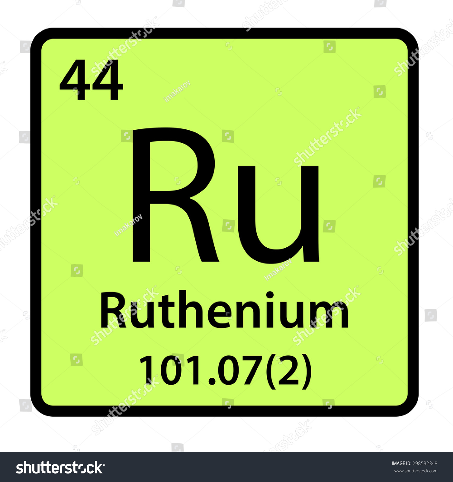 Element ruthenium periodic table stock illustration 298532348 element ruthenium of the periodic table gamestrikefo Choice Image