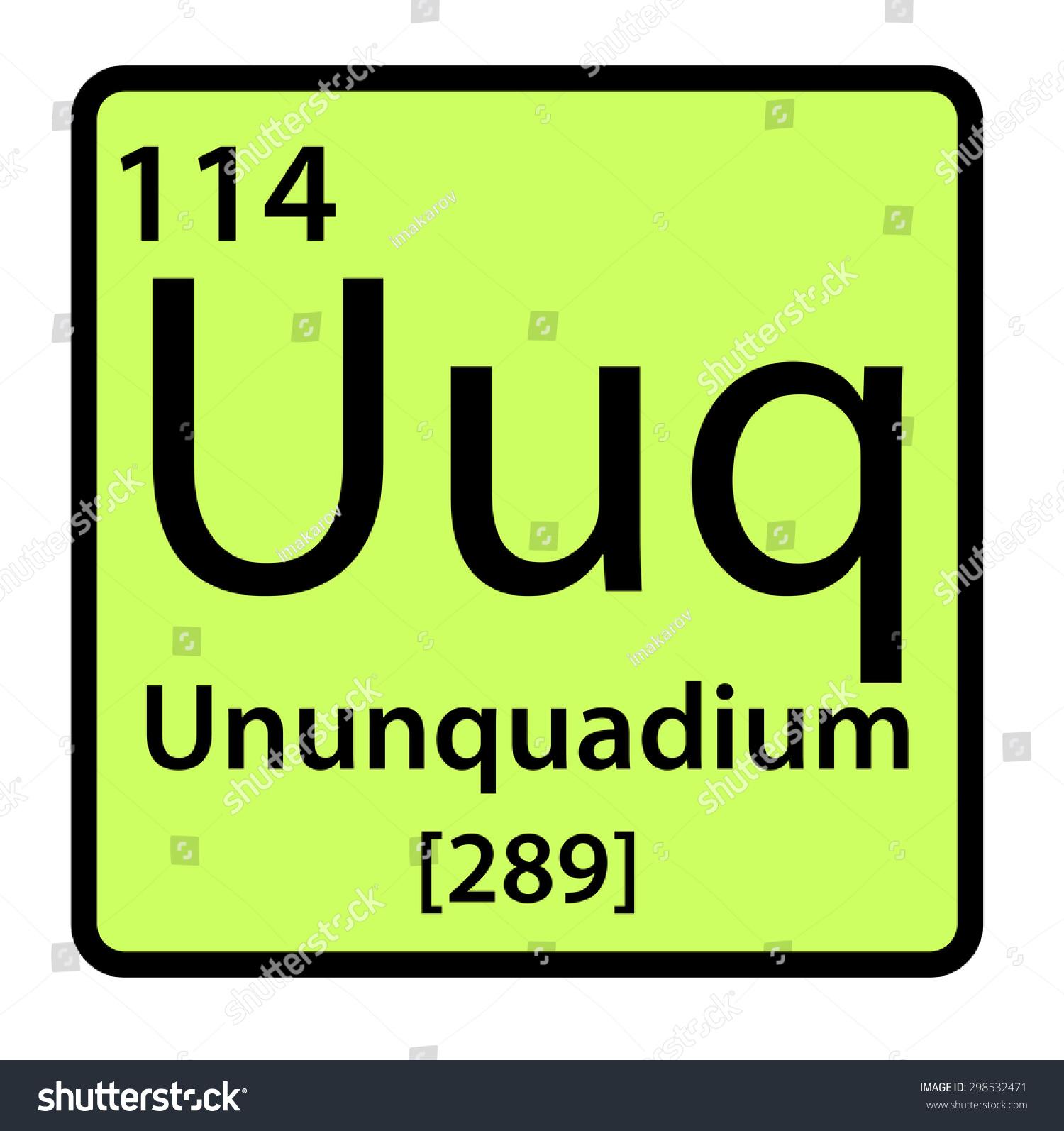Element ununquadium periodic table stock illustration for 114 element periodic table