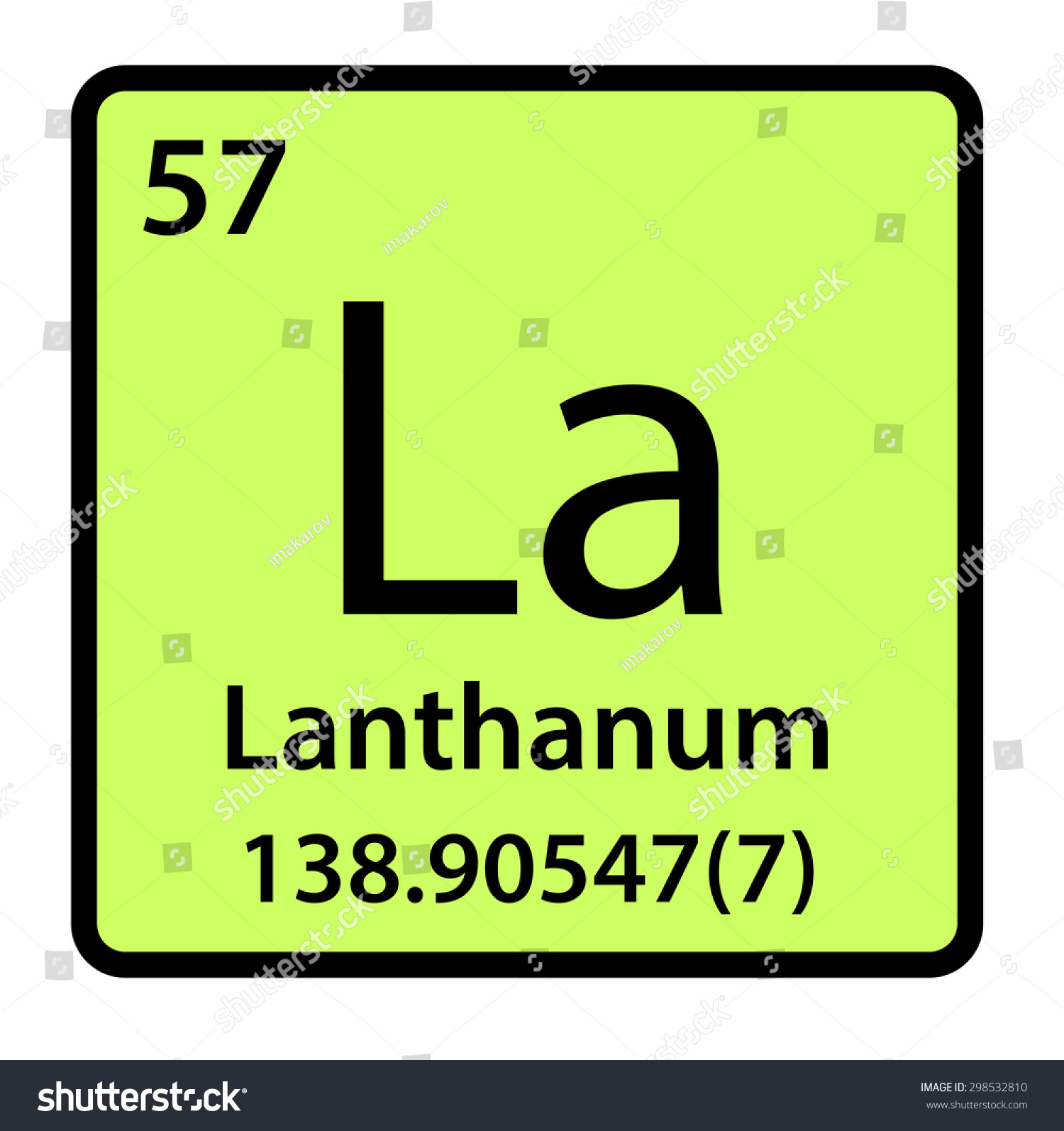 Element lanthanum periodic table stock illustration 298532810 element lanthanum of the periodic table gamestrikefo Gallery