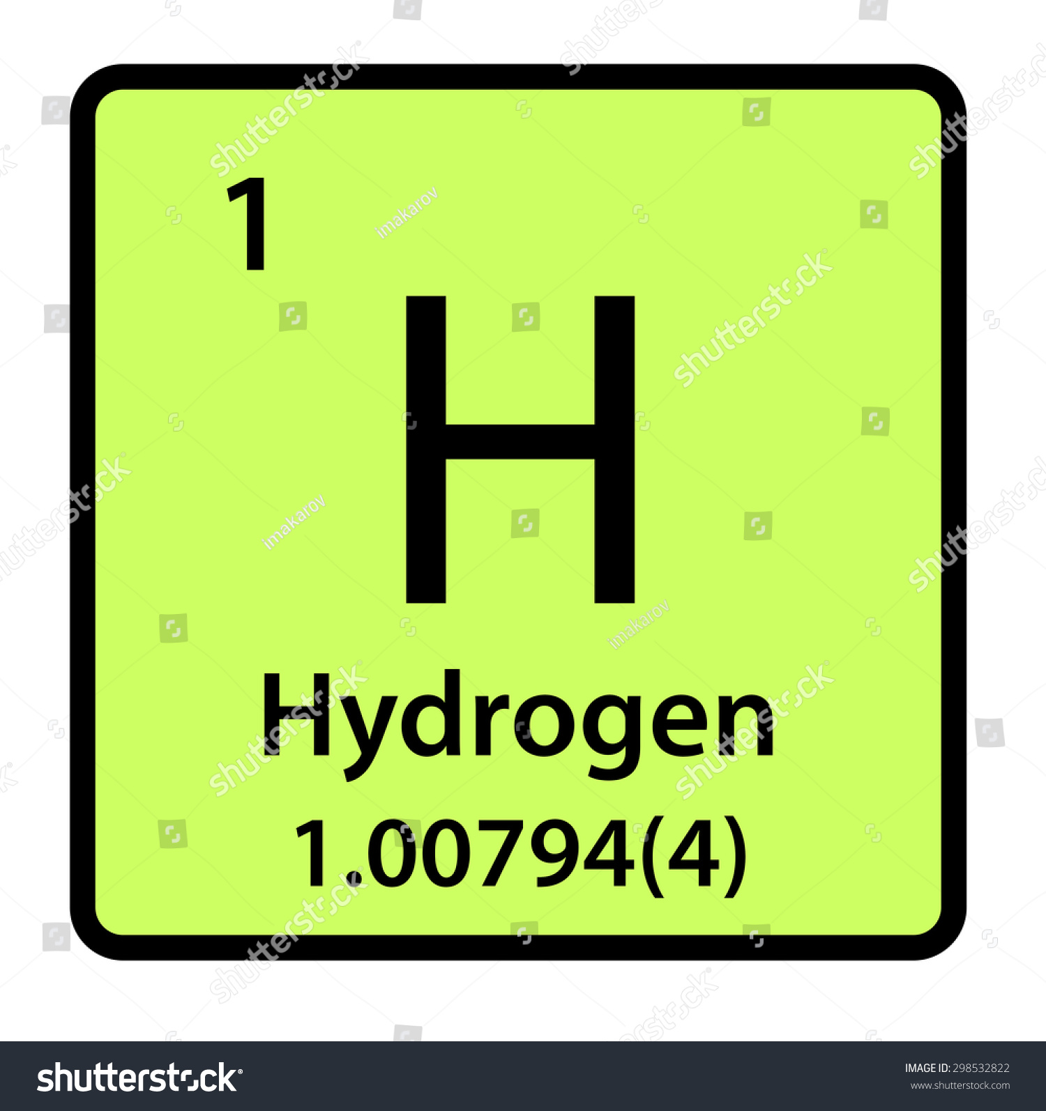 Element hydrogen periodic table stock illustration 298532822 element hydrogen of the periodic table gamestrikefo Choice Image