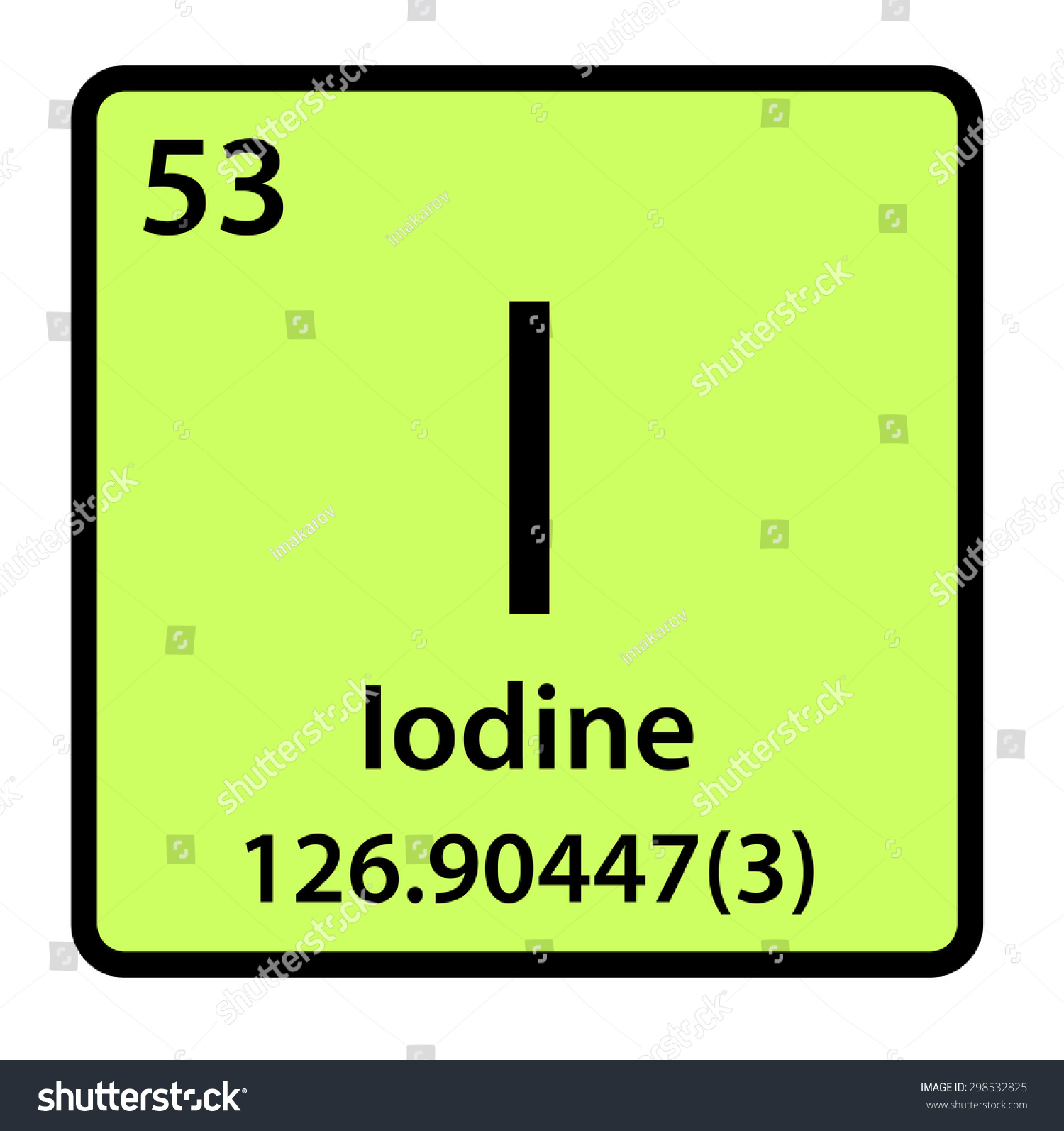 Element iodine periodic table stock illustration 298532825 element iodine of the periodic table gamestrikefo Choice Image