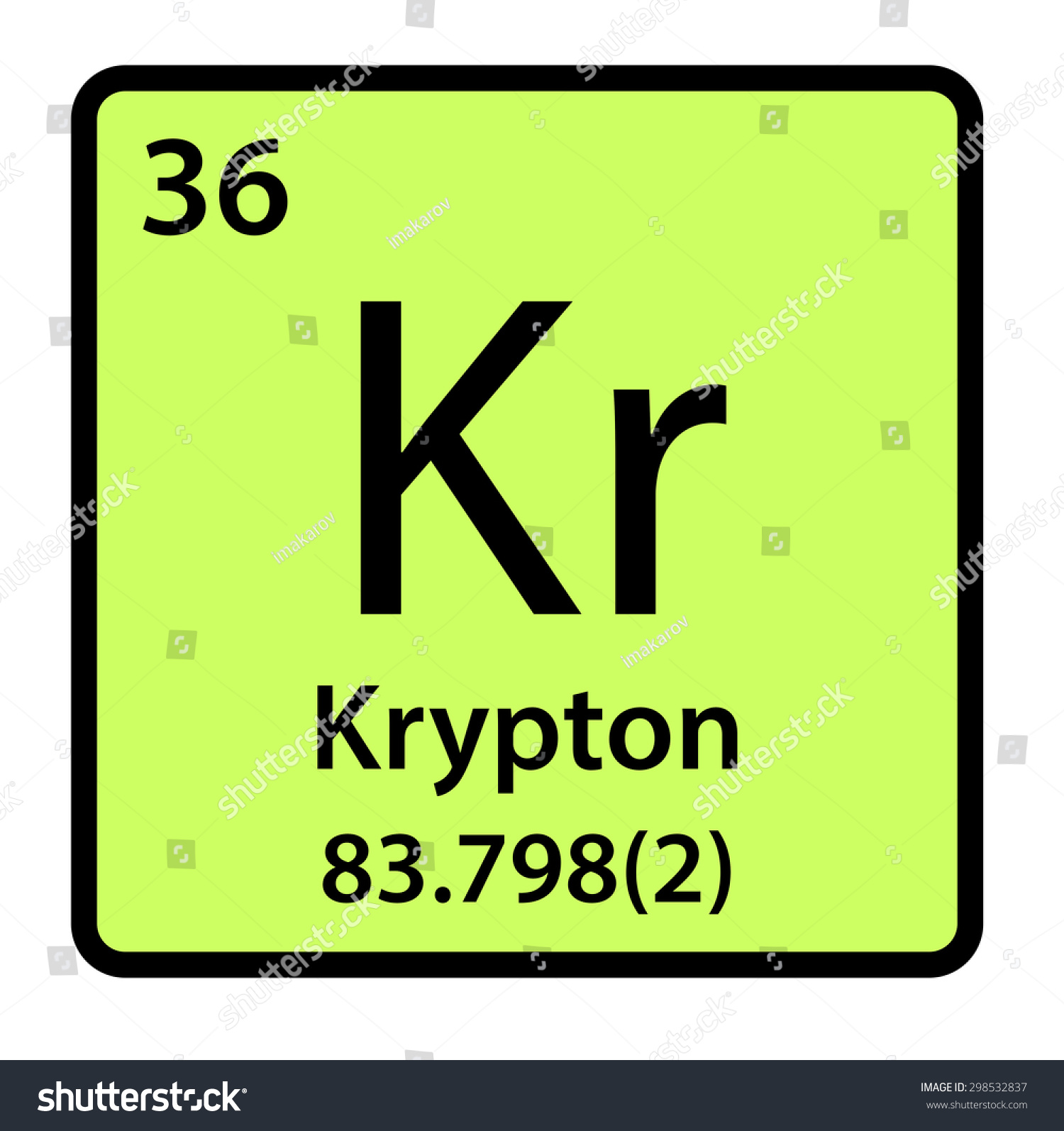 Krypton Element Periodic Table Element Krypton Period...