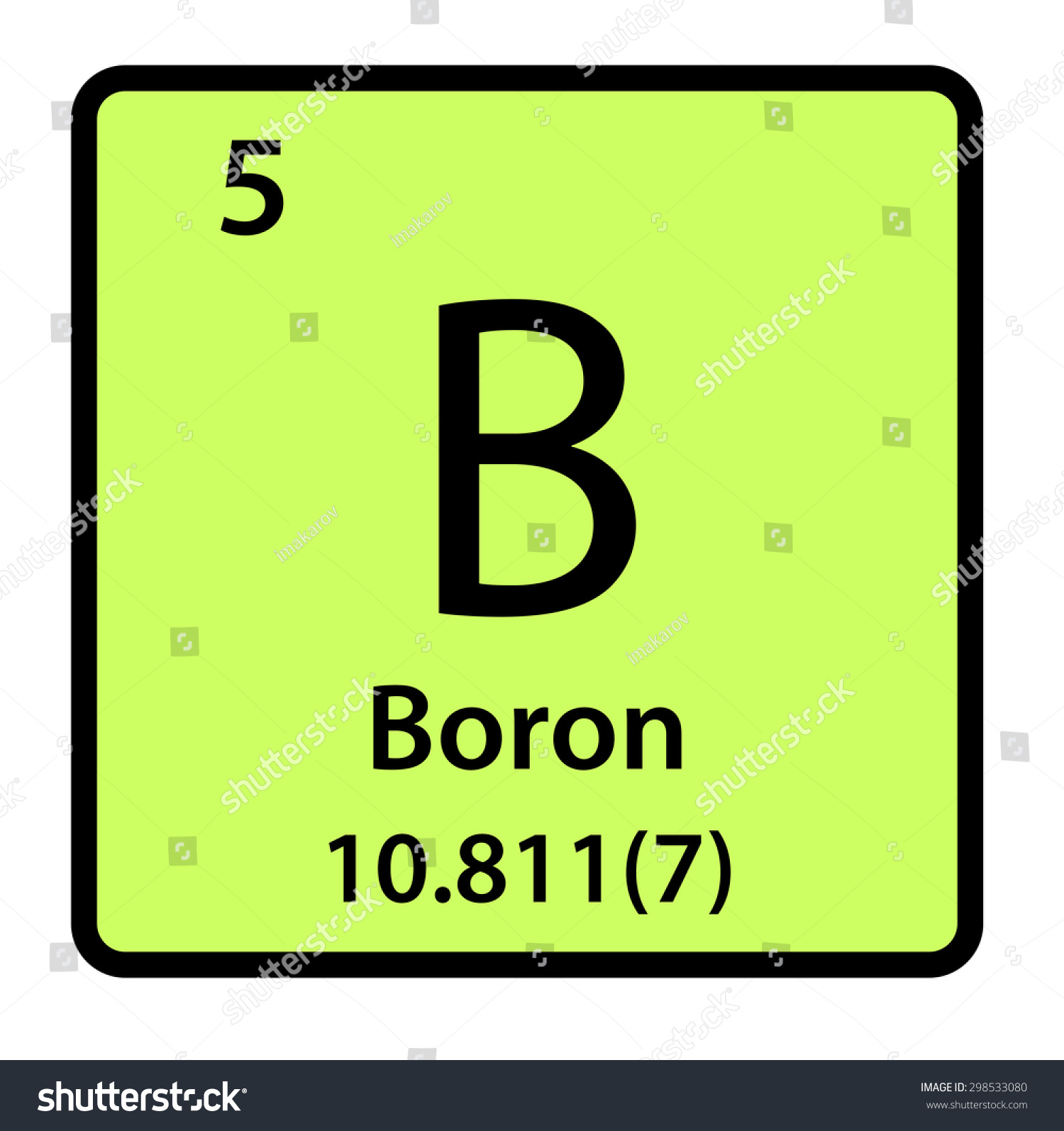 Element boron periodic table stock illustration 298533080 element boron of the periodic table gamestrikefo Image collections