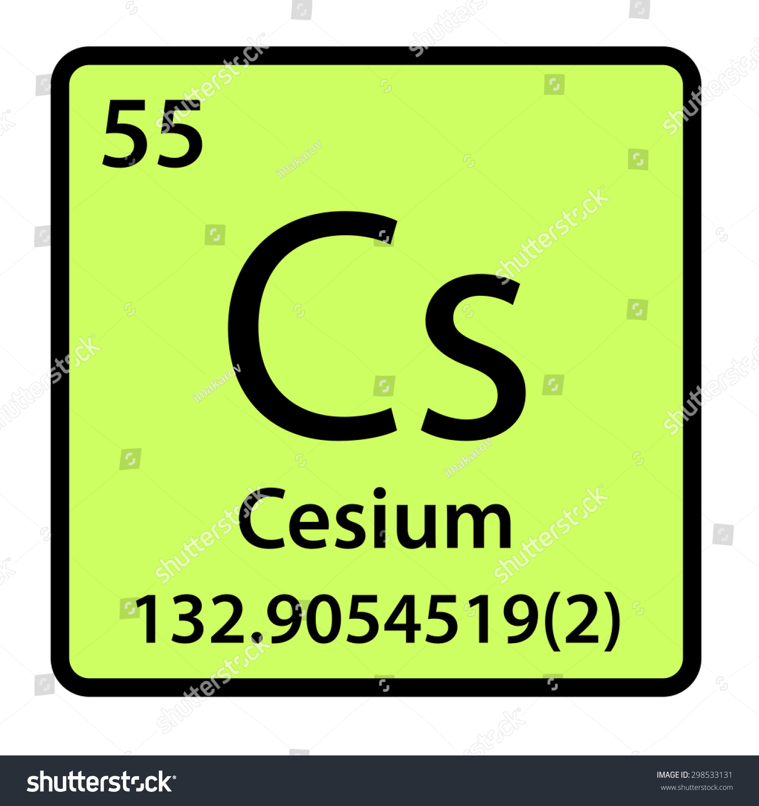 Element cesium periodic table stock illustration 298533131 element cesium of the periodic table gamestrikefo Image collections