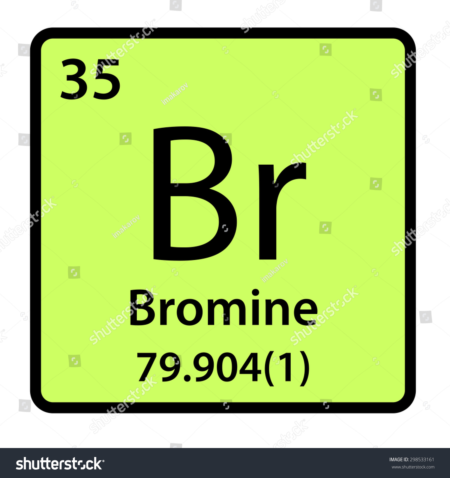 Element bromine periodic table stock illustration 298533161 element bromine of the periodic table gamestrikefo Gallery