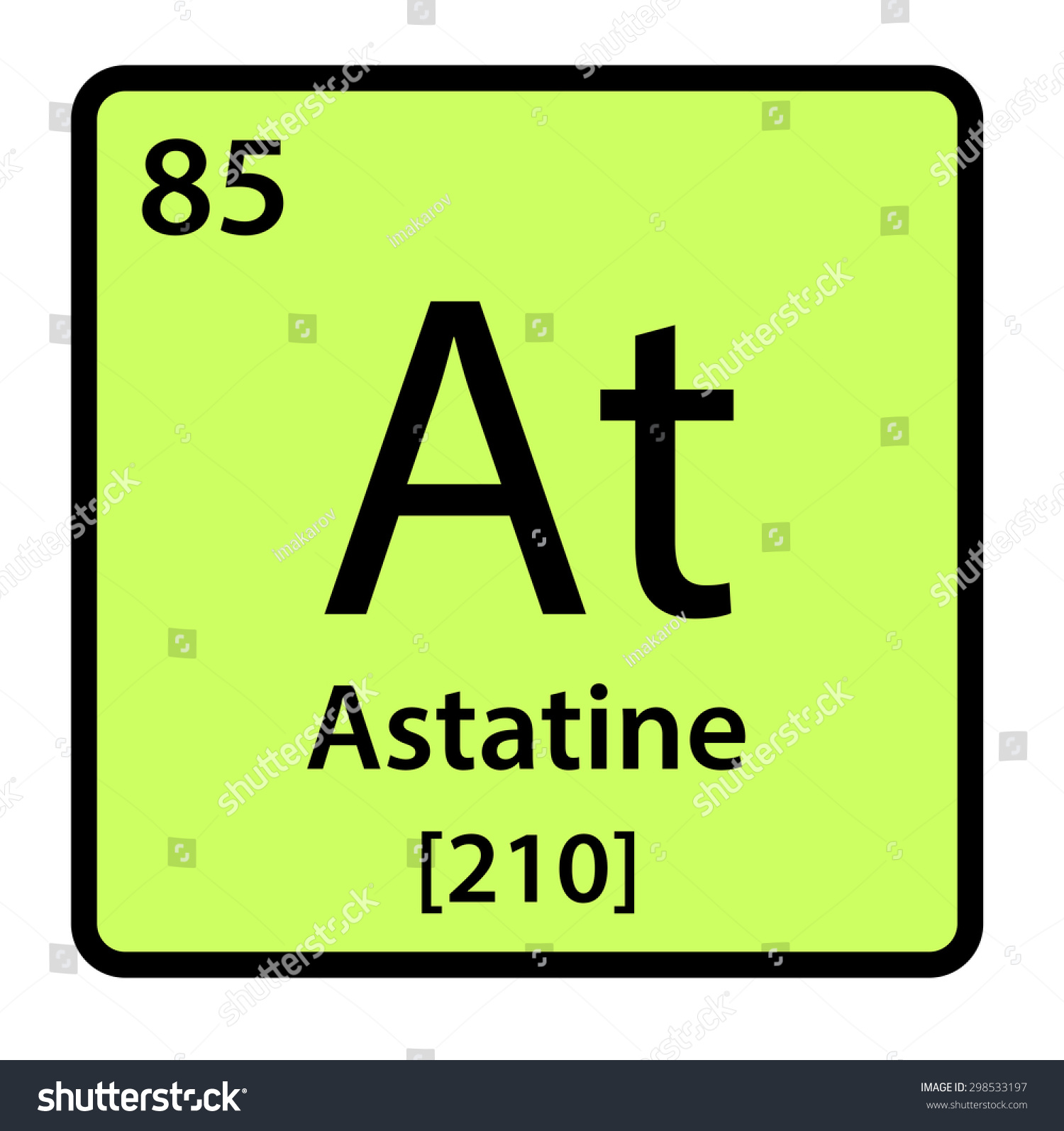 Element astatine periodic table stock illustration 298533197 element astatine of the periodic table gamestrikefo Gallery