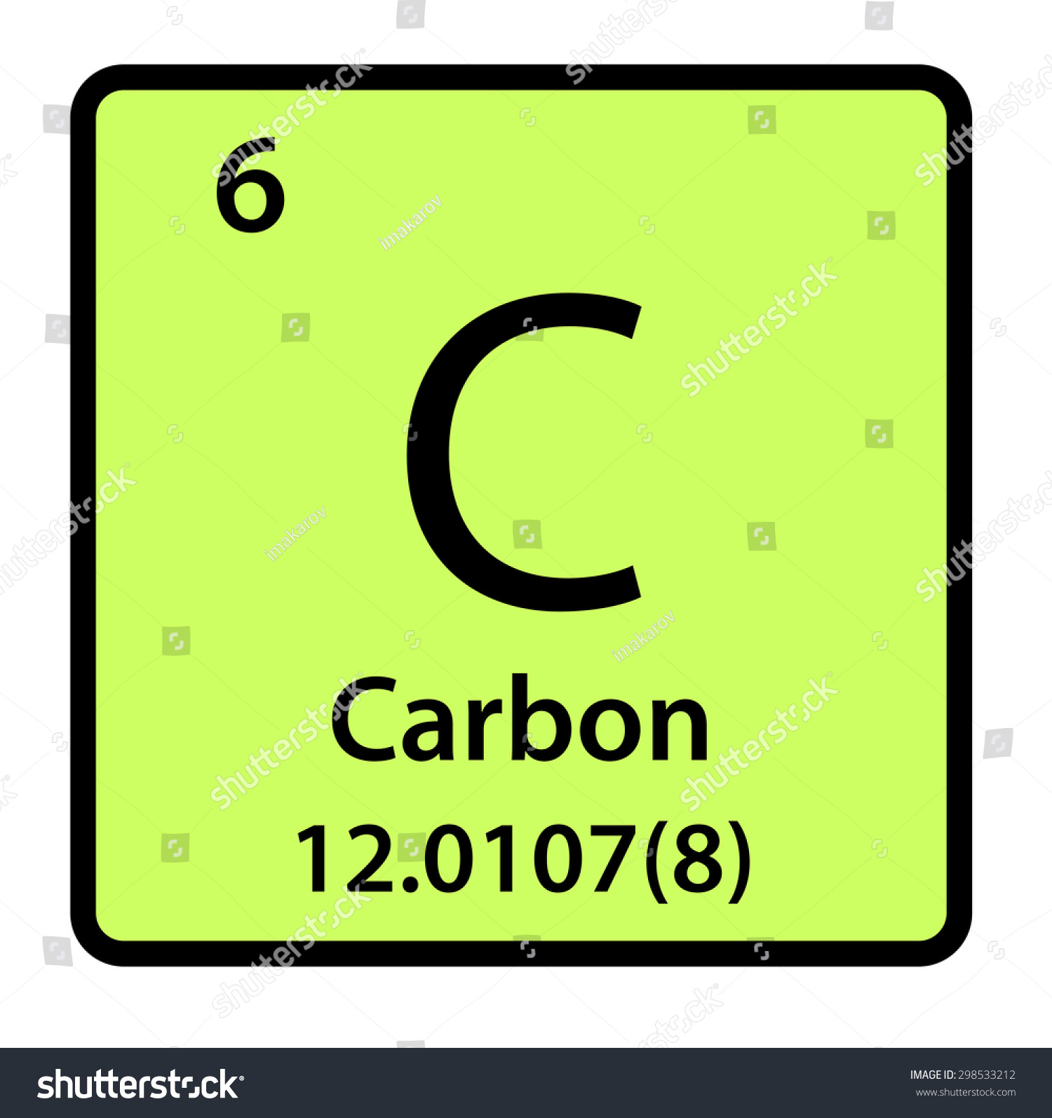 Element carbon periodic table stock illustration 298533212 element carbon of the periodic table gamestrikefo Image collections