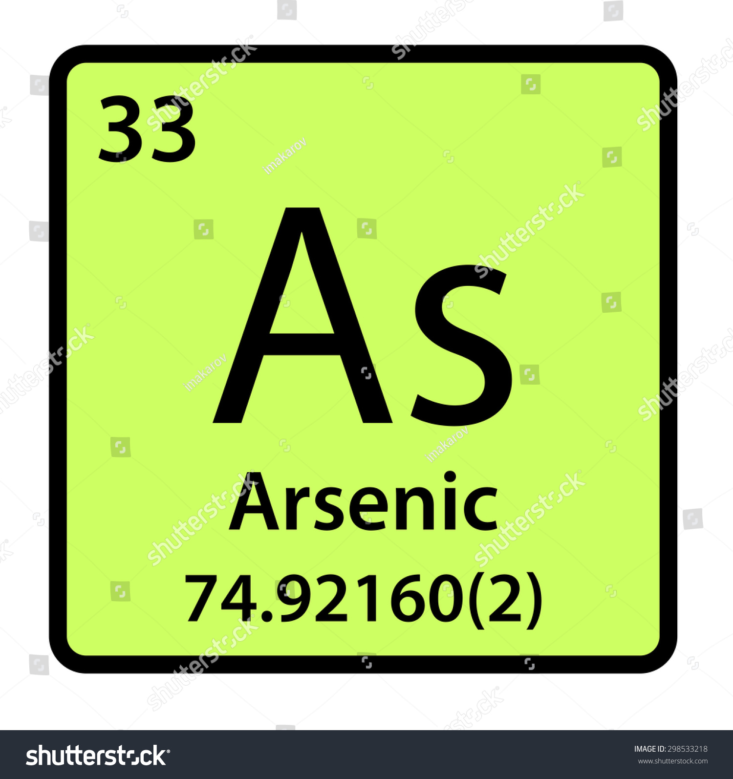 Element arsenic periodic table stock illustration 298533218 element arsenic of the periodic table biocorpaavc Image collections