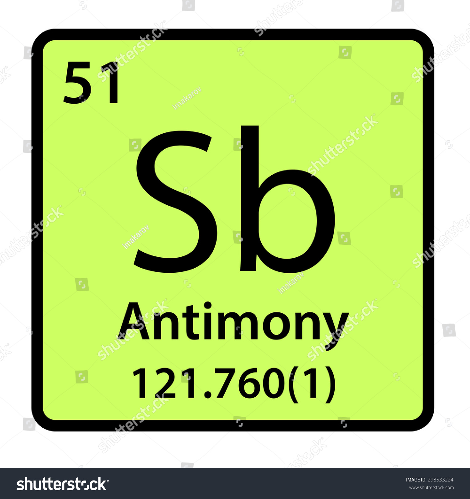 Element antimony periodic table stock illustration 298533224 element antimony of the periodic table gamestrikefo Choice Image