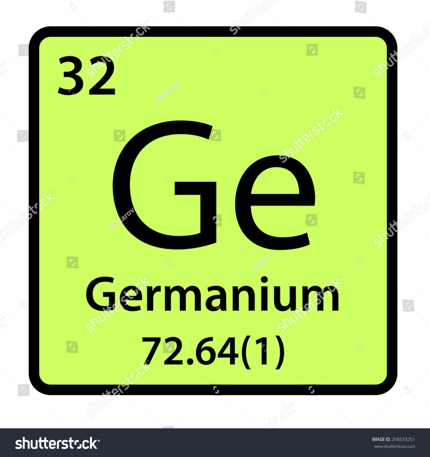 Element germanium periodic table stock illustration 298533251 element germanium of the periodic table gamestrikefo Image collections