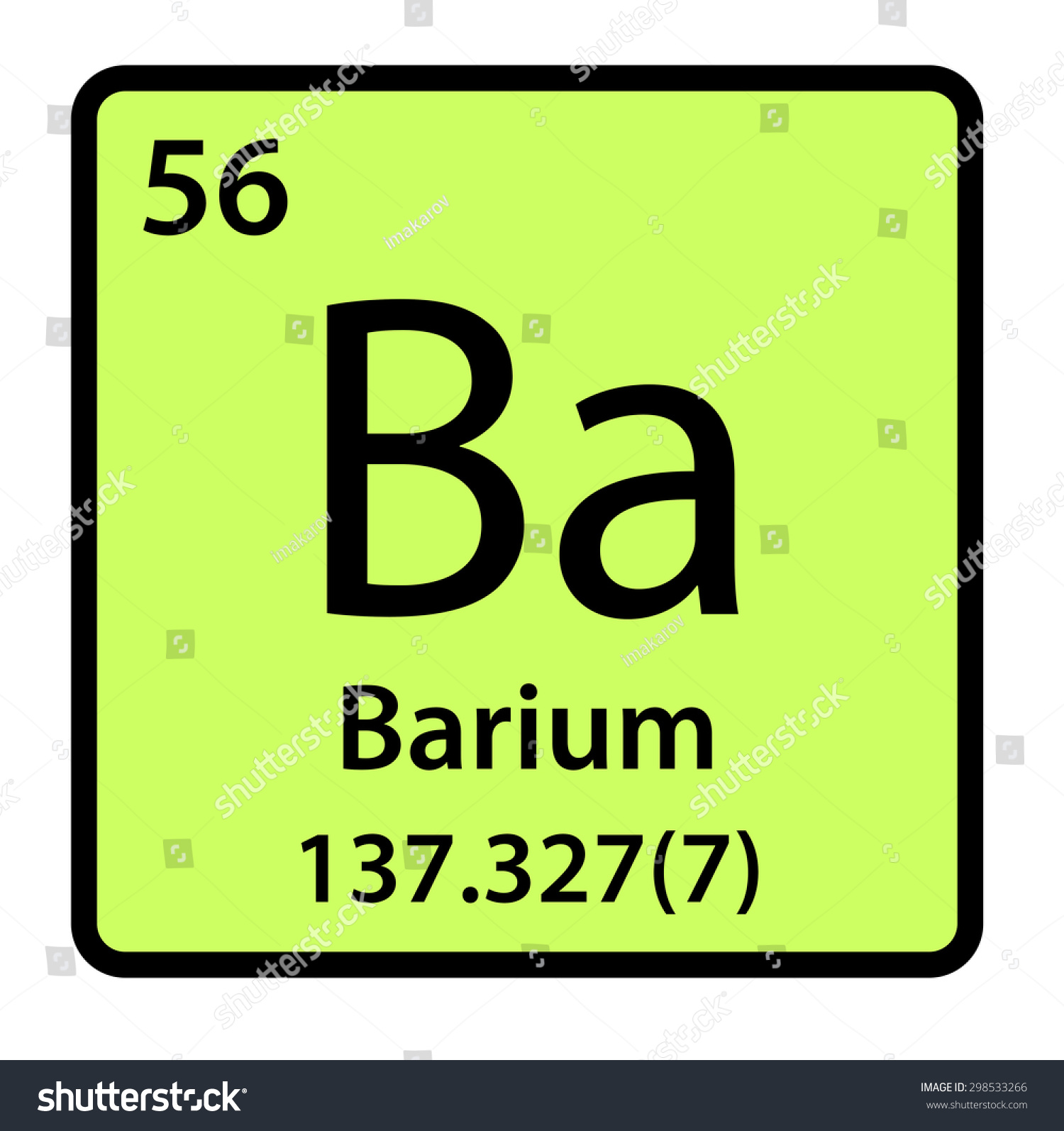 Element barium periodic table stock illustration 298533266 element barium of the periodic table gamestrikefo Gallery