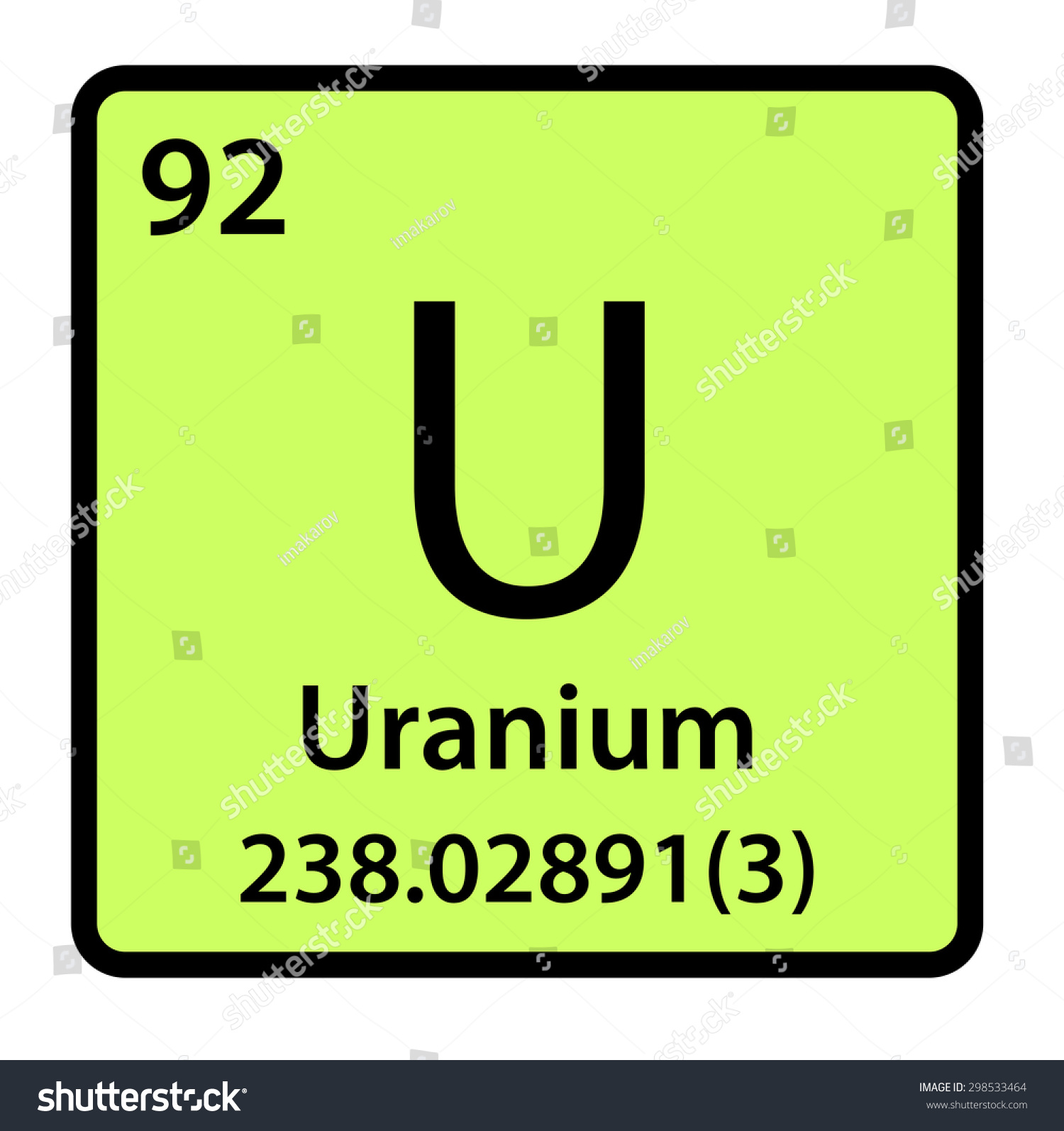 Element uranium of the periodic table stock photo 298533464 element uranium of the periodic table gamestrikefo Image collections