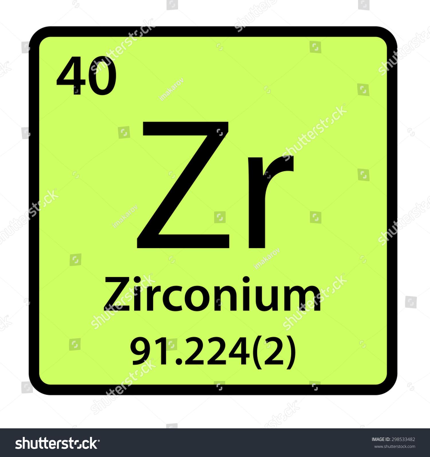Element zirconium periodic table stock illustration 298533482 element zirconium of the periodic table gamestrikefo Images