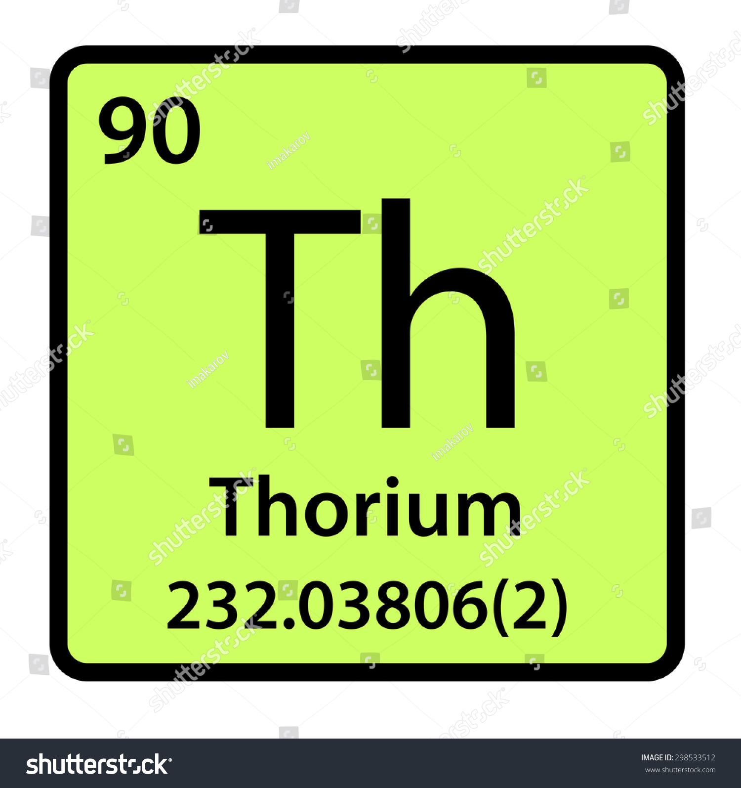 Element thorium periodic table stock illustration 298533512 element thorium of the periodic table gamestrikefo Gallery