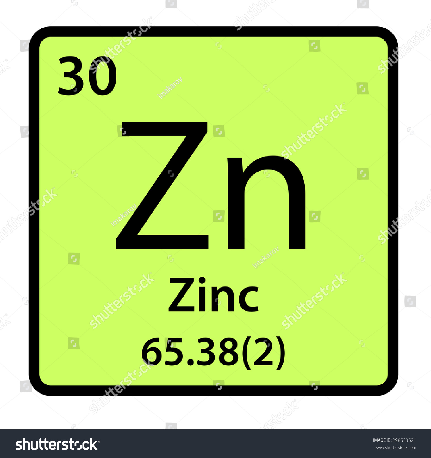 Zinc On The Periodic Table Gallery - periodic table of elements list