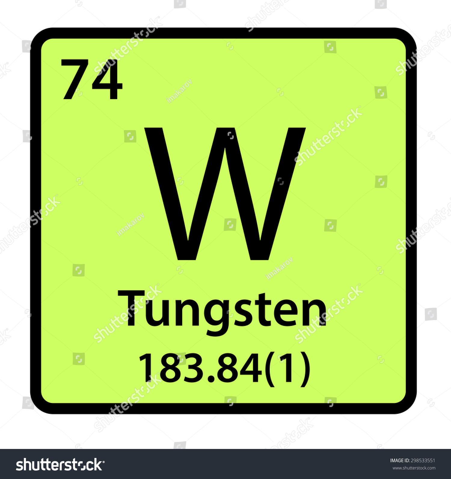 Element tungsten periodic table stock illustration 298533551 element tungsten of the periodic table gamestrikefo Gallery