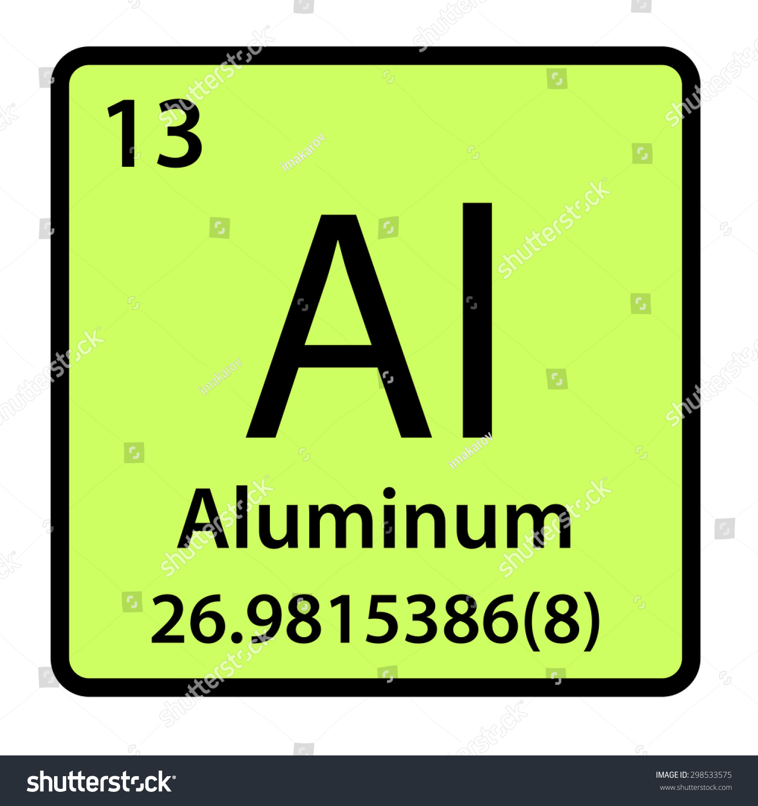 Element aluminum periodic table stock illustration 298533575 element aluminum of the periodic table gamestrikefo Image collections