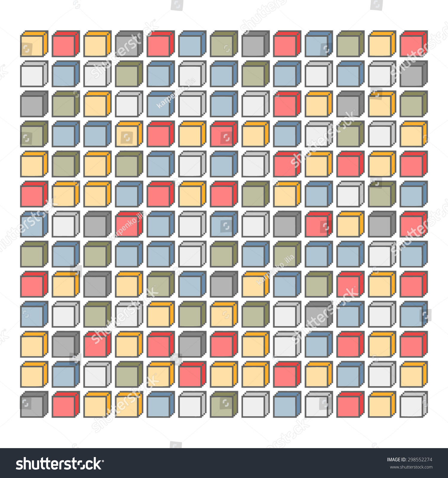 Pixel Art Background Colored Cubes Kids Stock Illustration ...