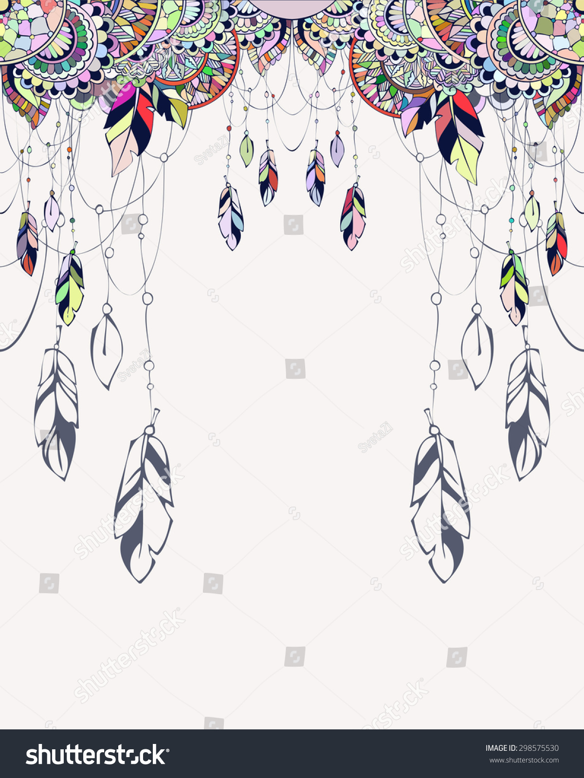 Vector Templates In Boho Style Can Be Used As Invitations Greeting Cards Graphic
