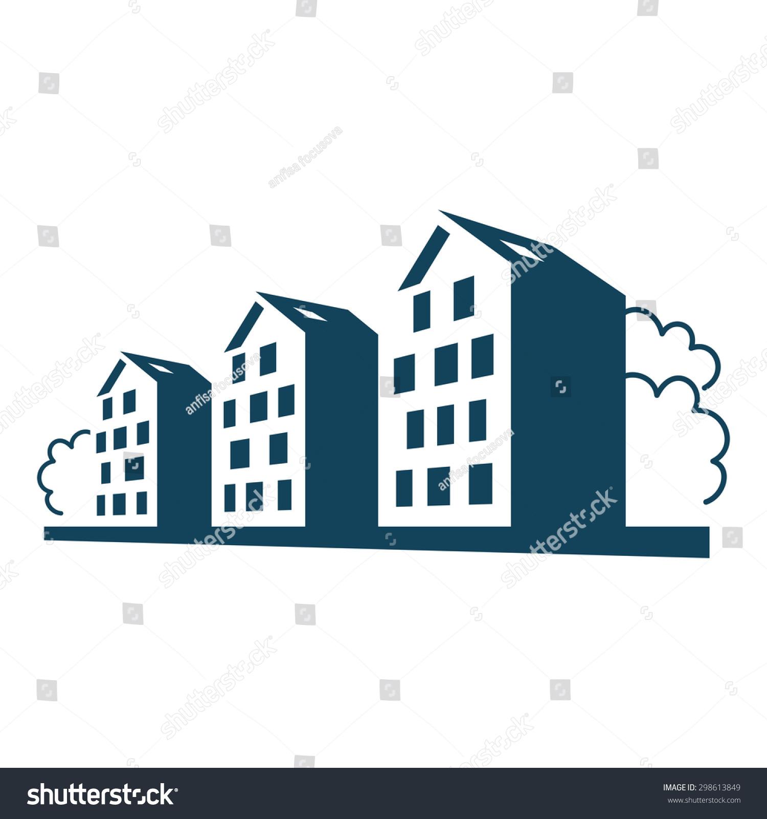 Apartment housing symbol for Apartment logo design