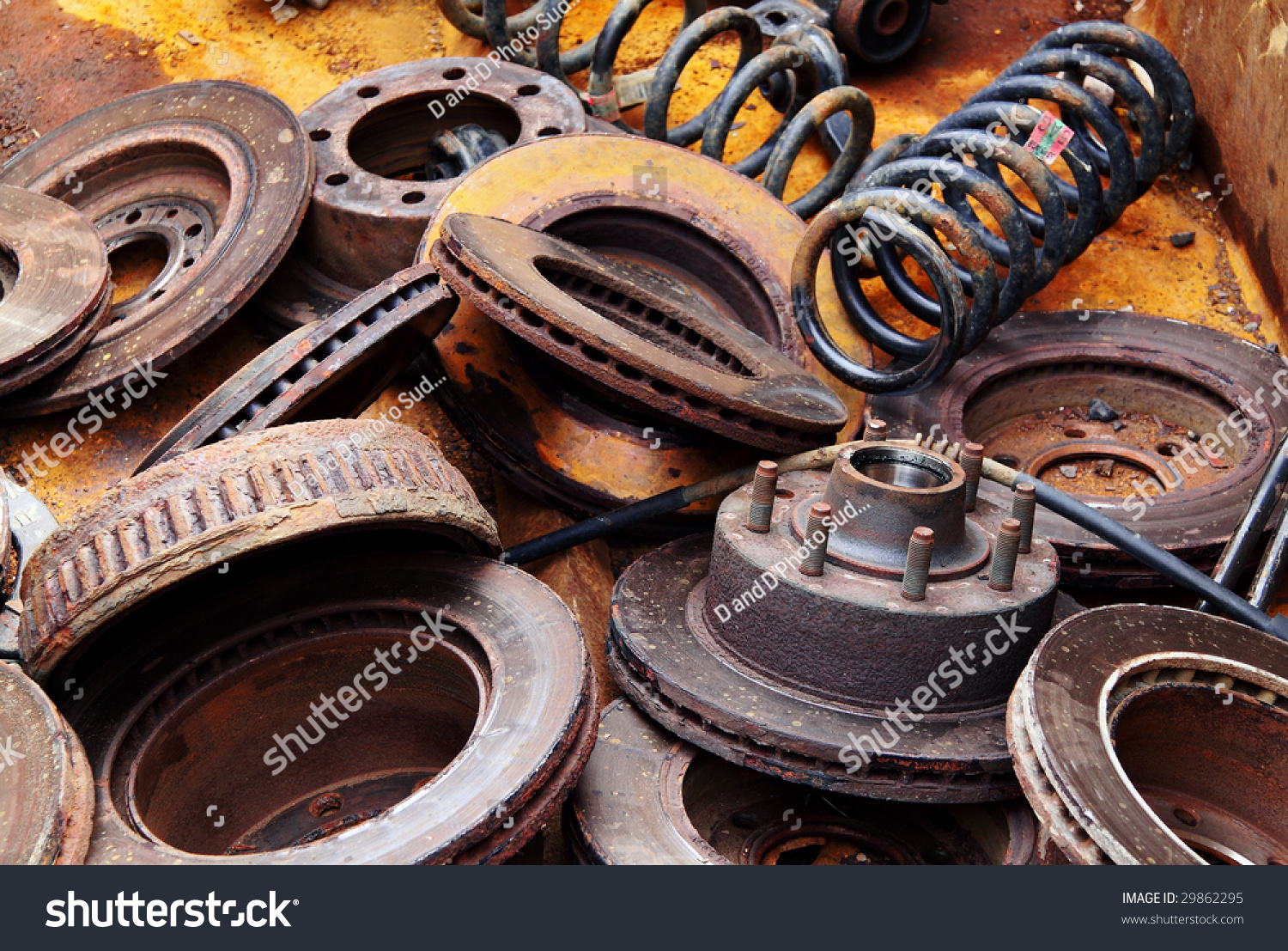 Scrap Metal Old Car Parts Stock Photo 29862295 Shutterstock