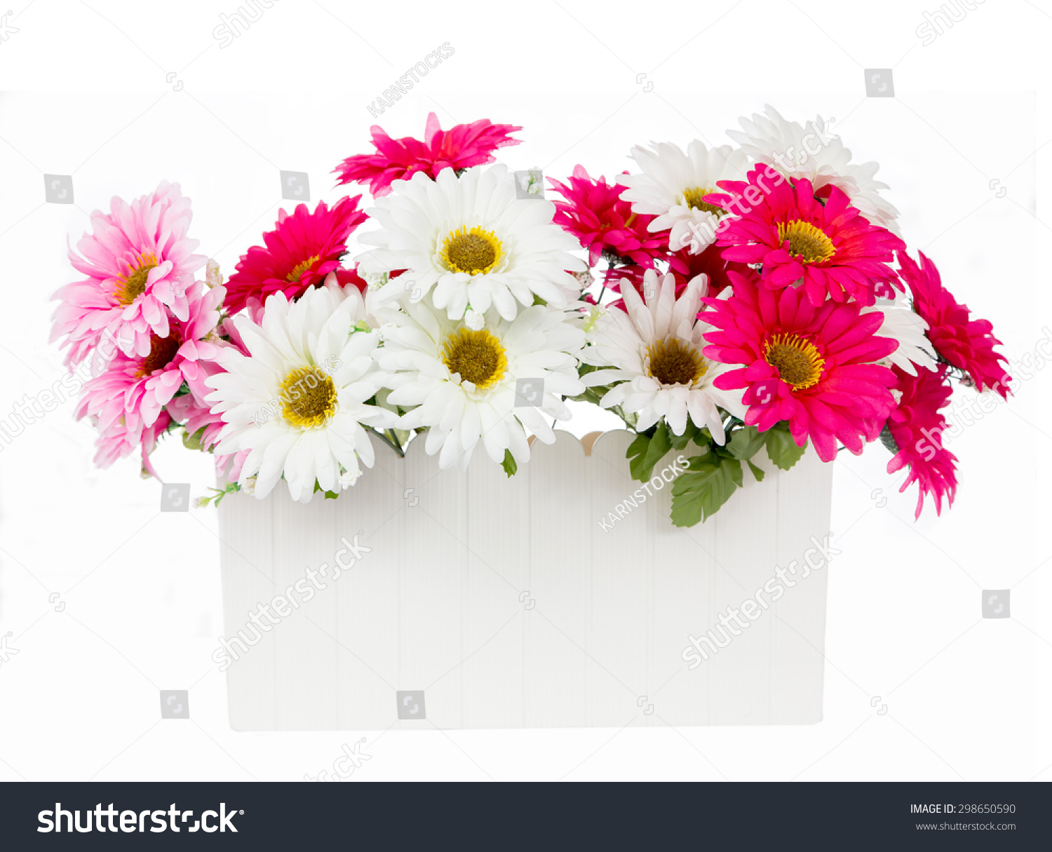 Pink White Artificial Flowers White Plastic Stock Photo Edit Now