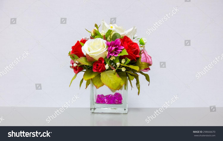 Beautiful flower vase on gray background stock photo edit now beautiful flower vase on gray background izmirmasajfo