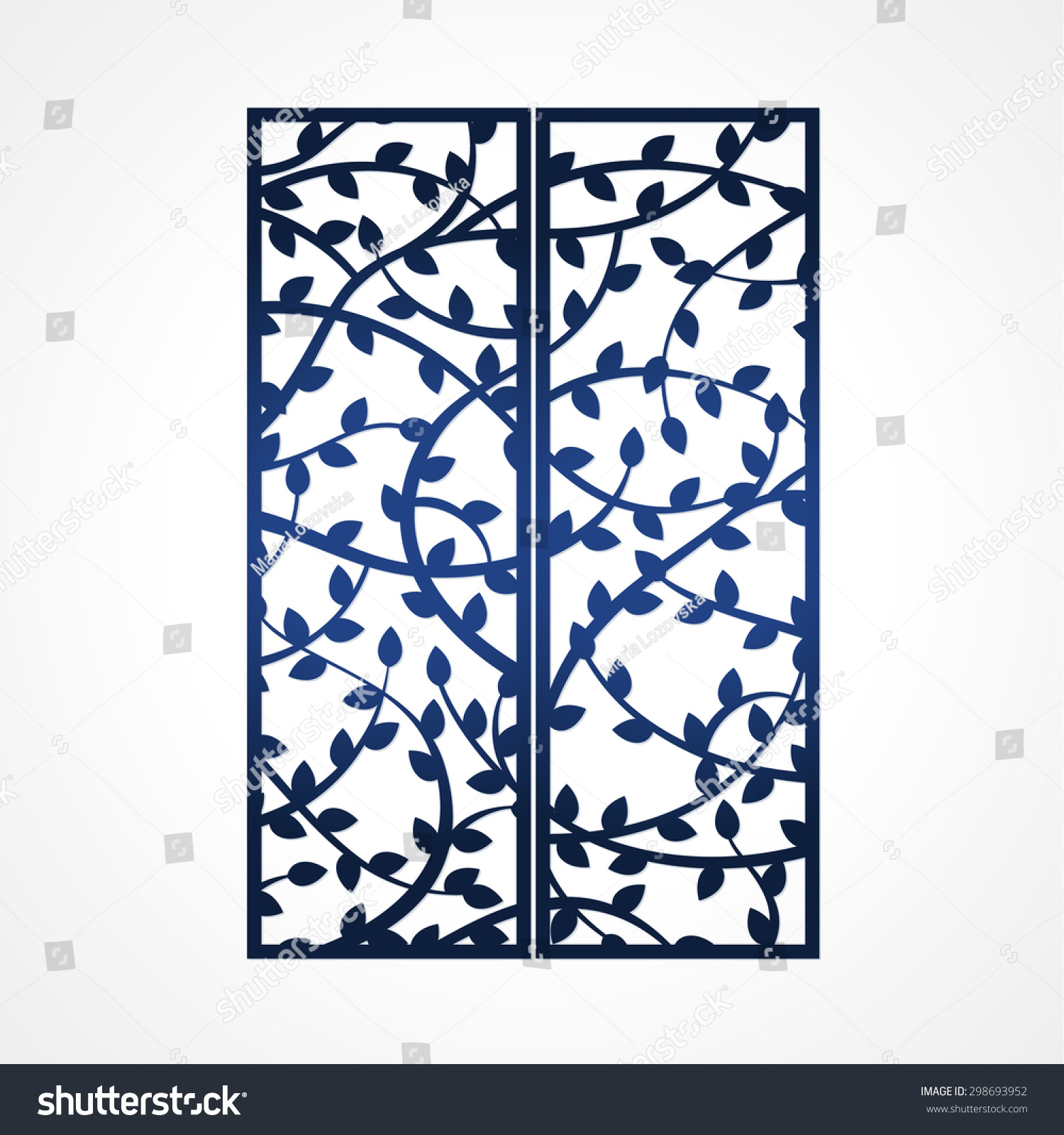 abstract vector frame tree branches may stock vector 298693952