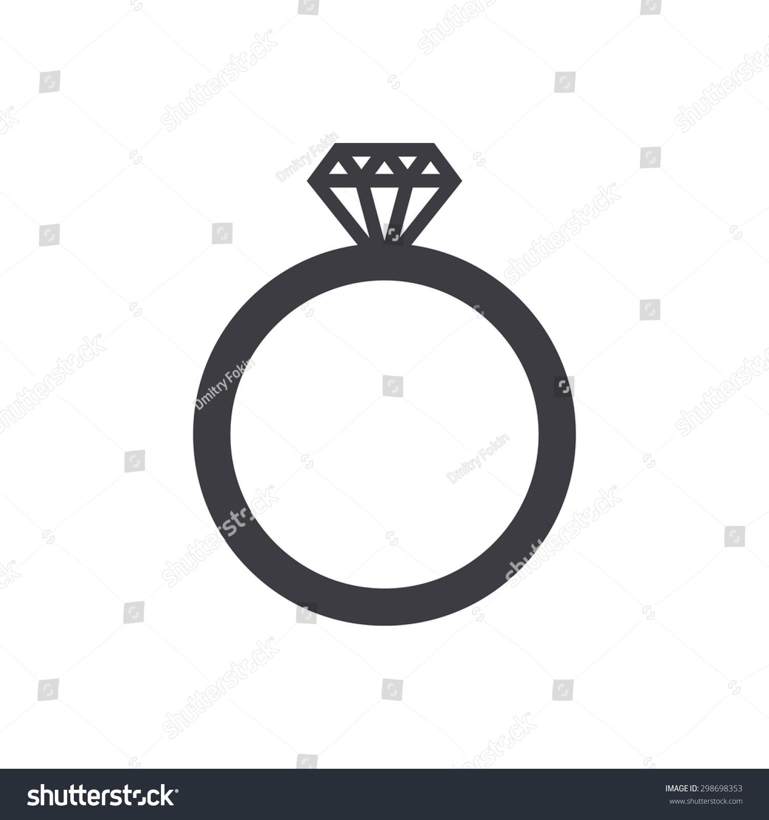 wedding ring icon modern minimal flat stock-vektorgrafik 298698353