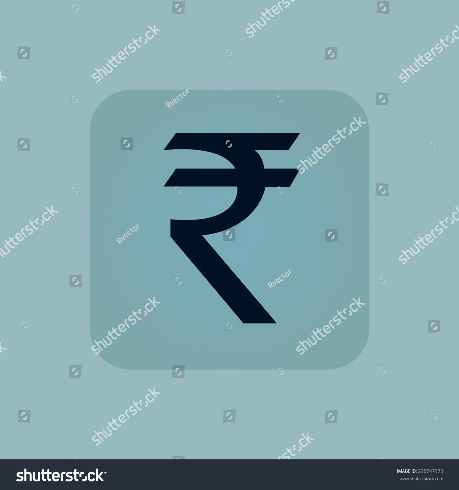 Indian rupee symbol square on pale stock vector 298747970 indian rupee symbol in square on pale blue background biocorpaavc Choice Image