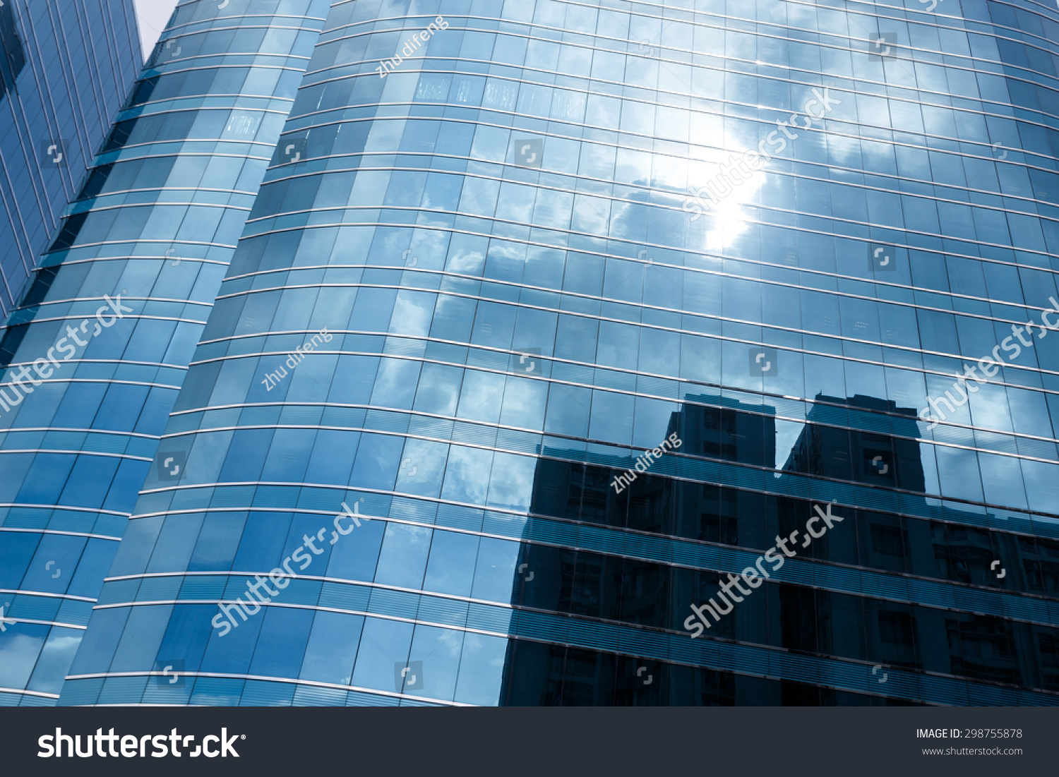 Low Angle View Of Modern Office Buildings Photo: Low Angle View Modern Office Building Stock Photo