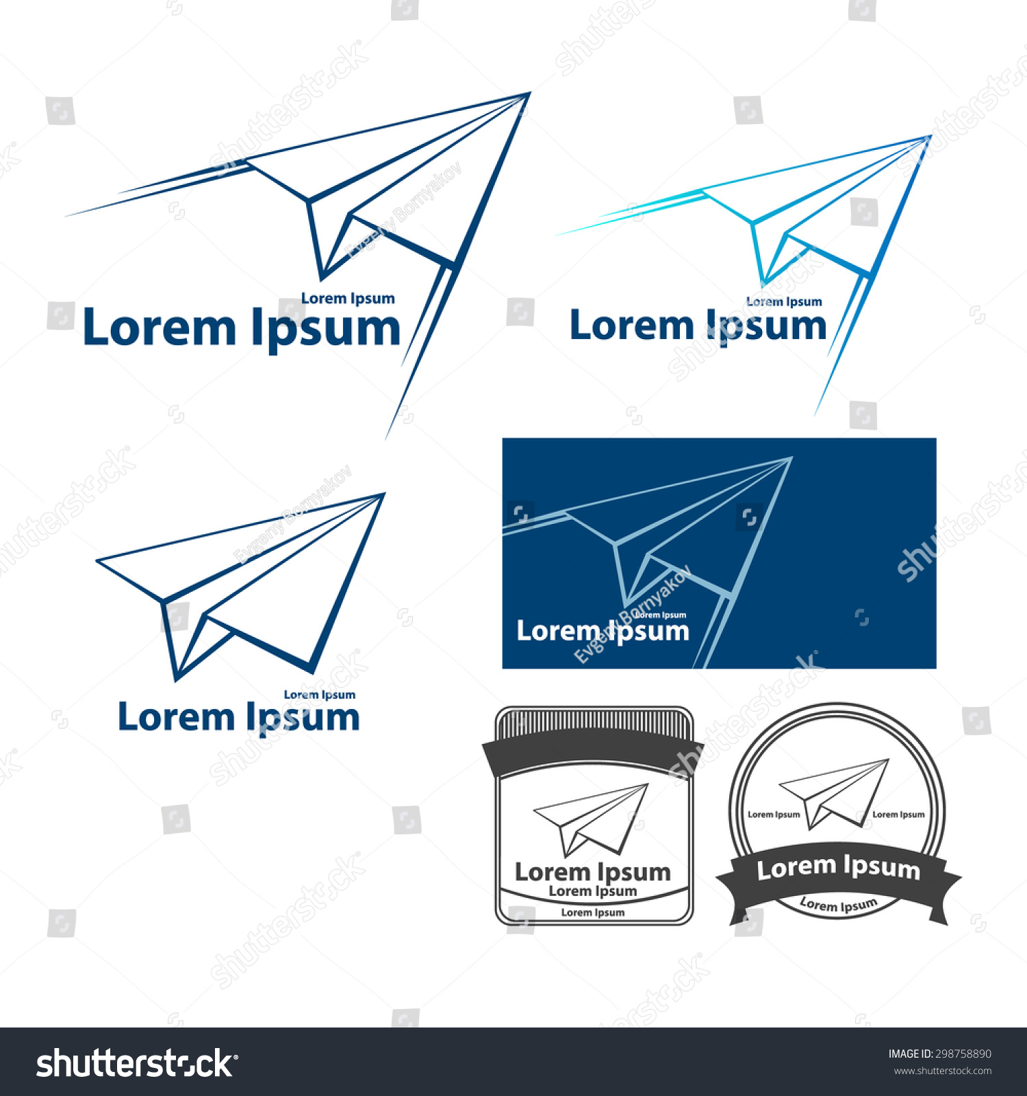 Paper plane flying logo vector design stock vector 298758890 paper plane flying logo vector design template airline tickets logo airplane aviation company logotype pronofoot35fo Images
