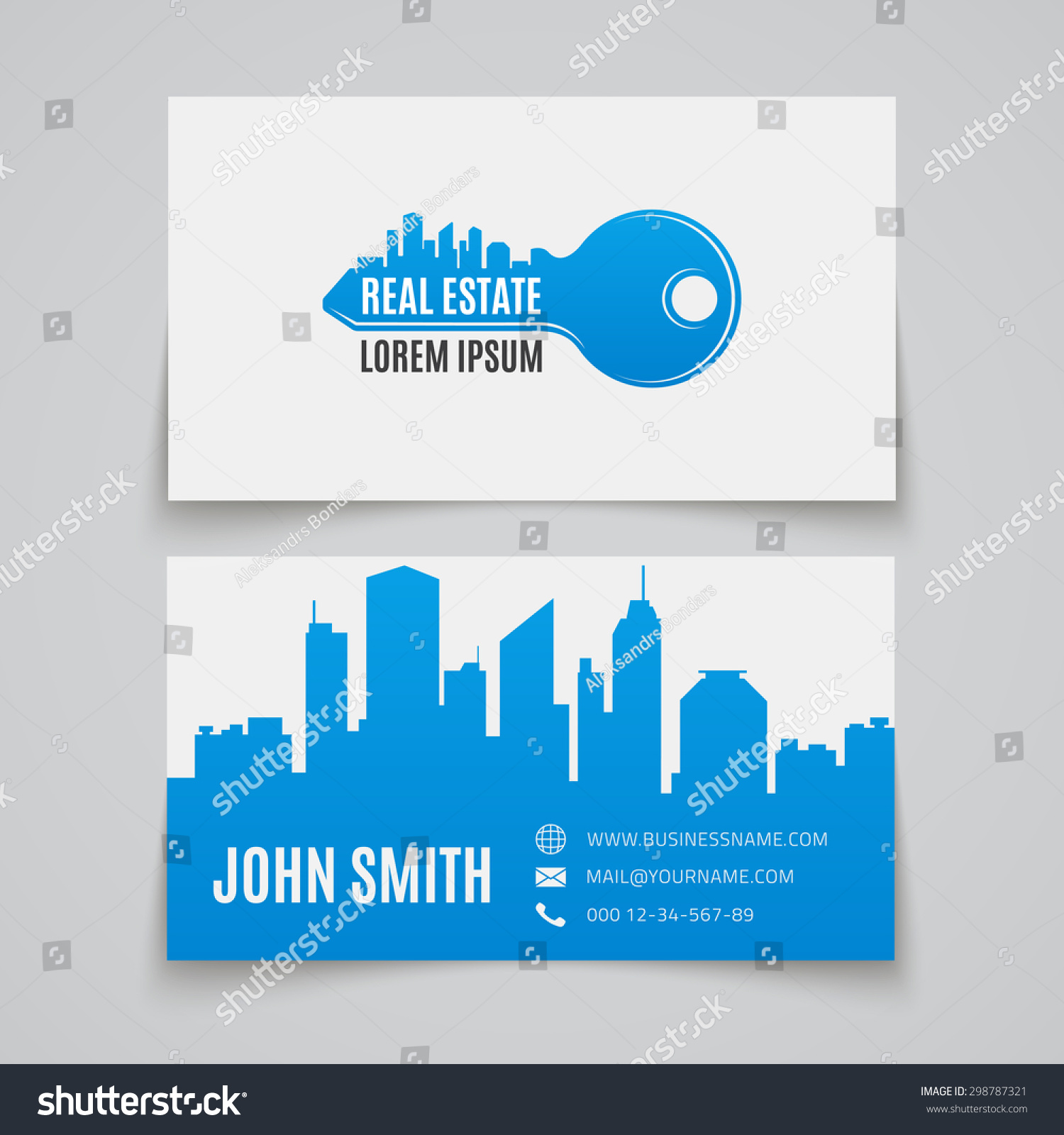 real estate simple key logo business stock vector