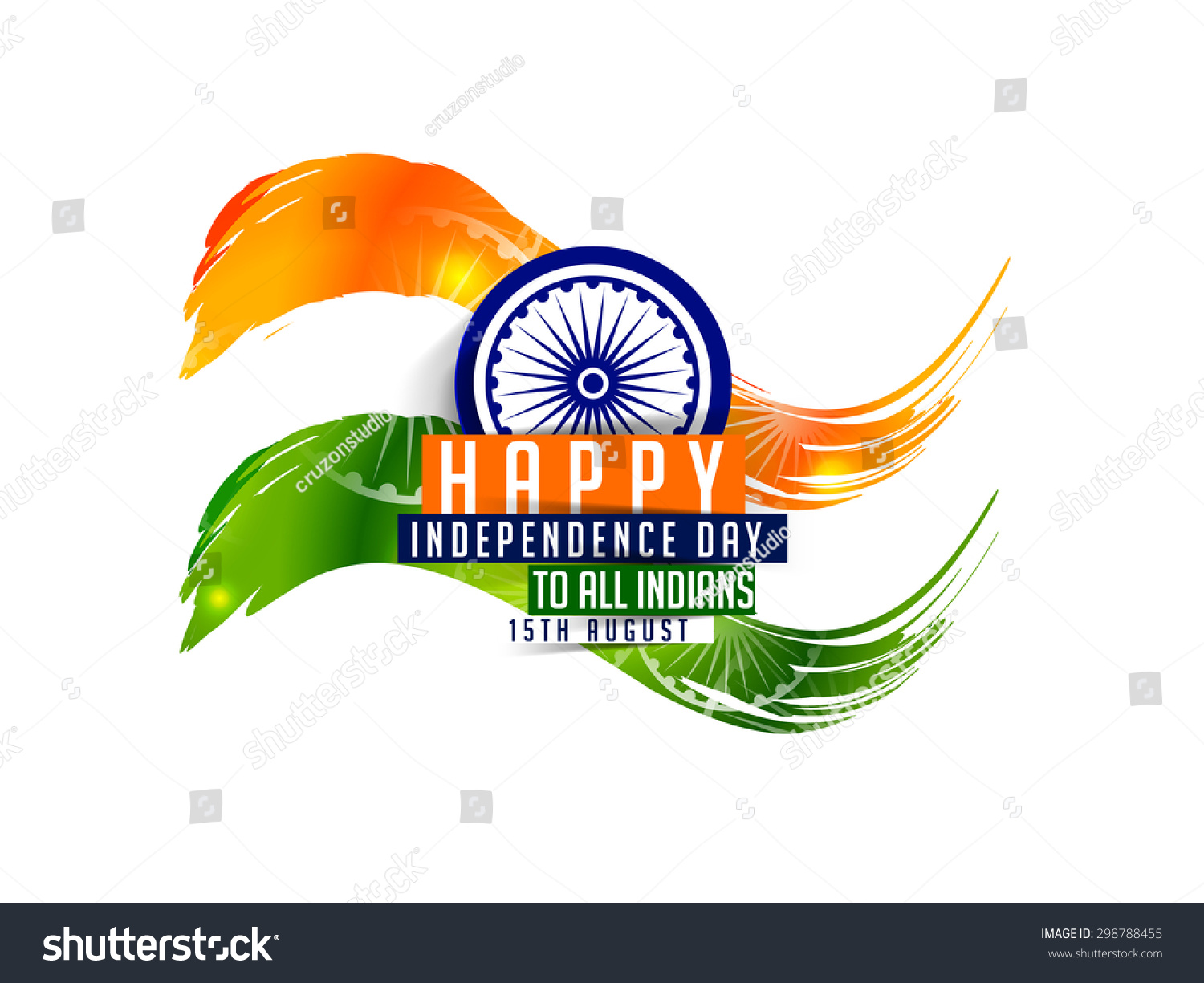 Creative Watercolor Indian Flag Background For Indian: Indian Flag Color Creative Abstract Background Stock