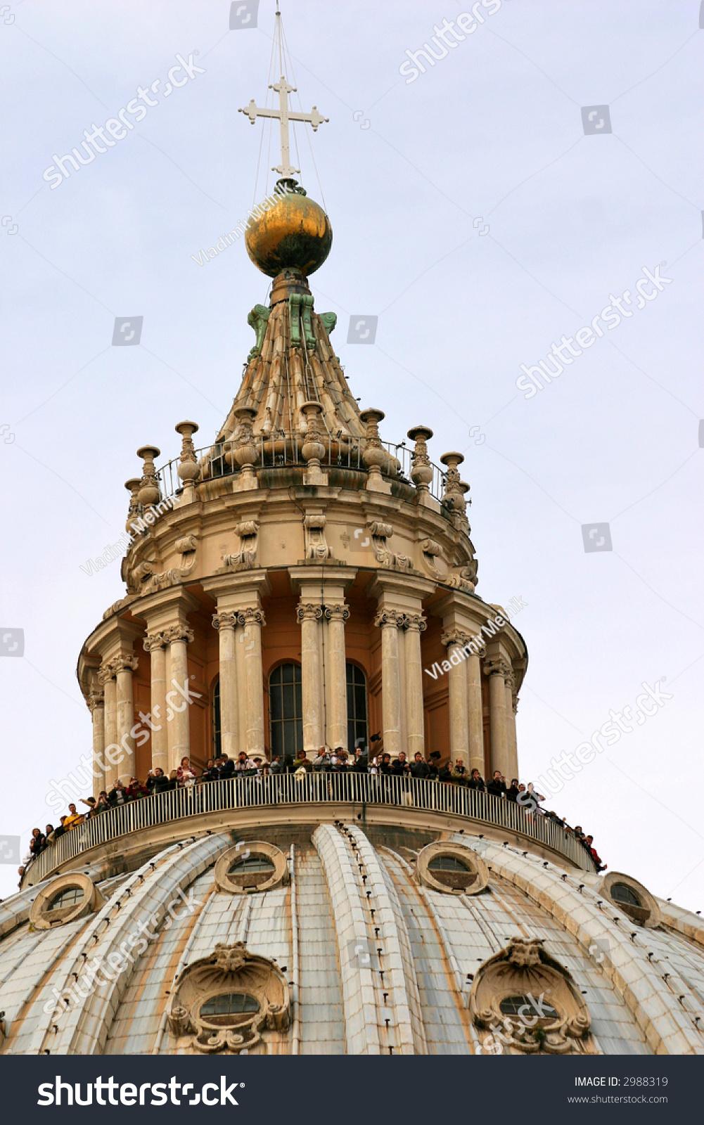 Basilica Di San Pietro Cupola, Vatican City Stock Photo