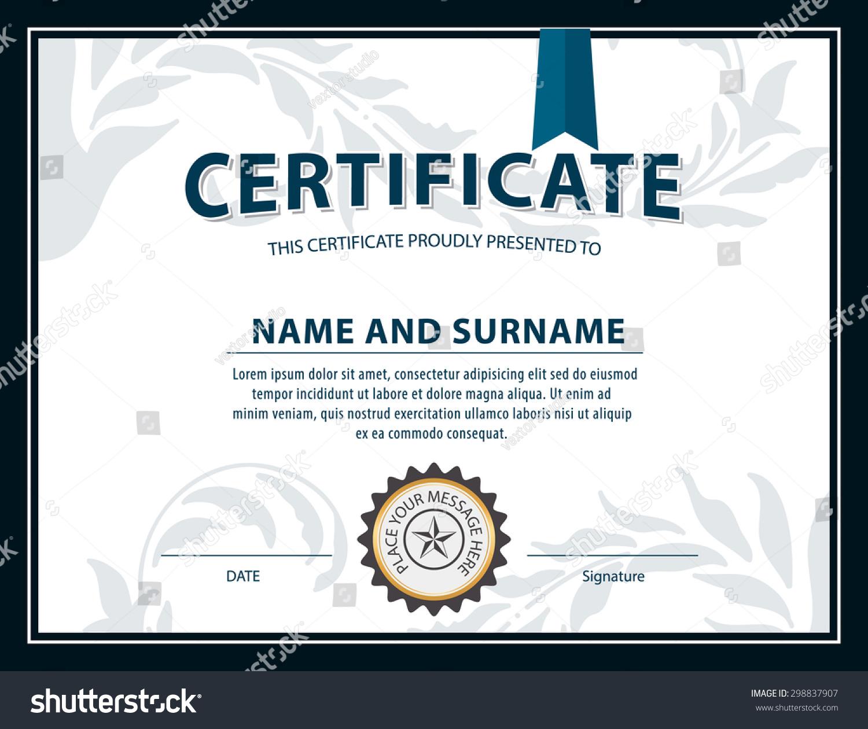certificate size