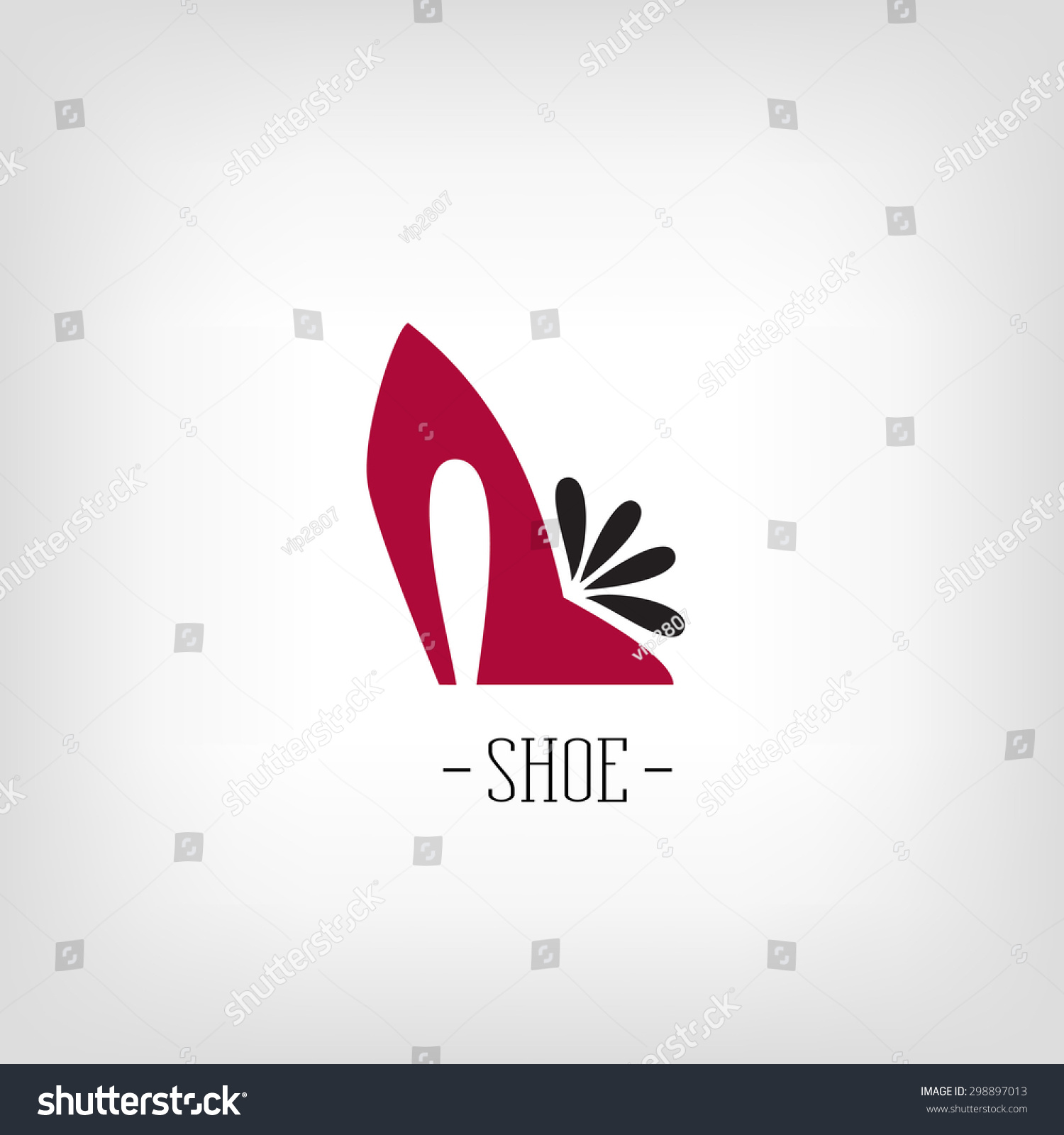 Stylized Womens Shoes Logo Shoe Store Stock Vector 298897013 ...