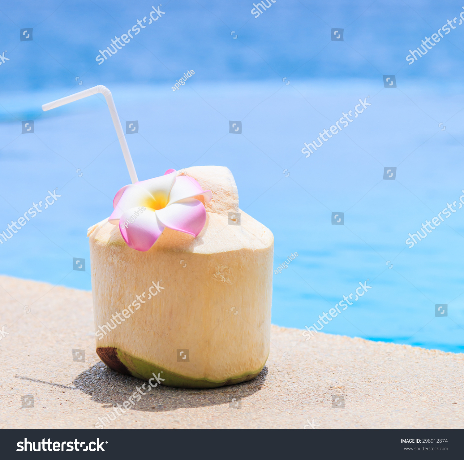 Coconut water drink swimming pool stock photo 298912874 shutterstock How to make swimming pool water drinkable