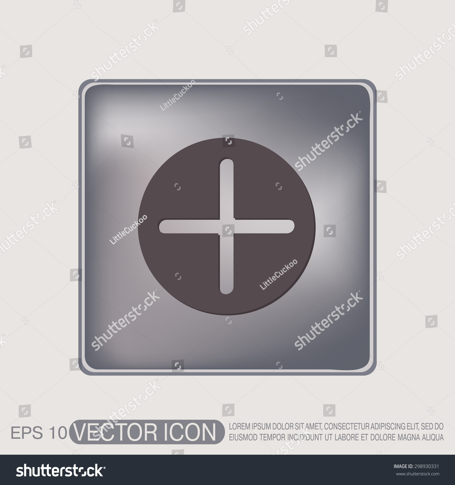 Plus sign icon positive symbol stock vector 298930331 shutterstock plus sign icon positive symbol biocorpaavc Choice Image