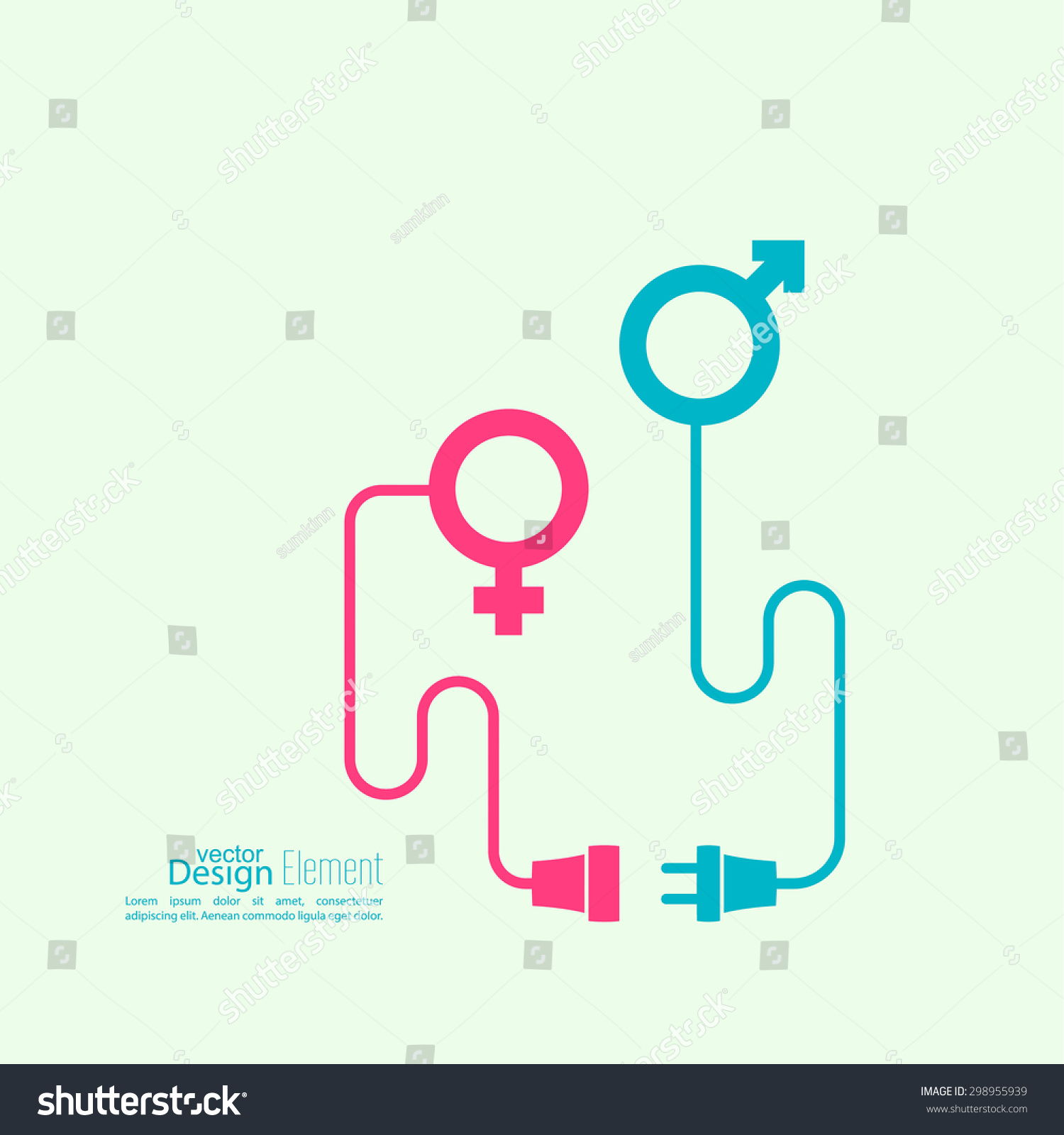Abstract Background Male Female Symbols Wire Stock Vector HD ...