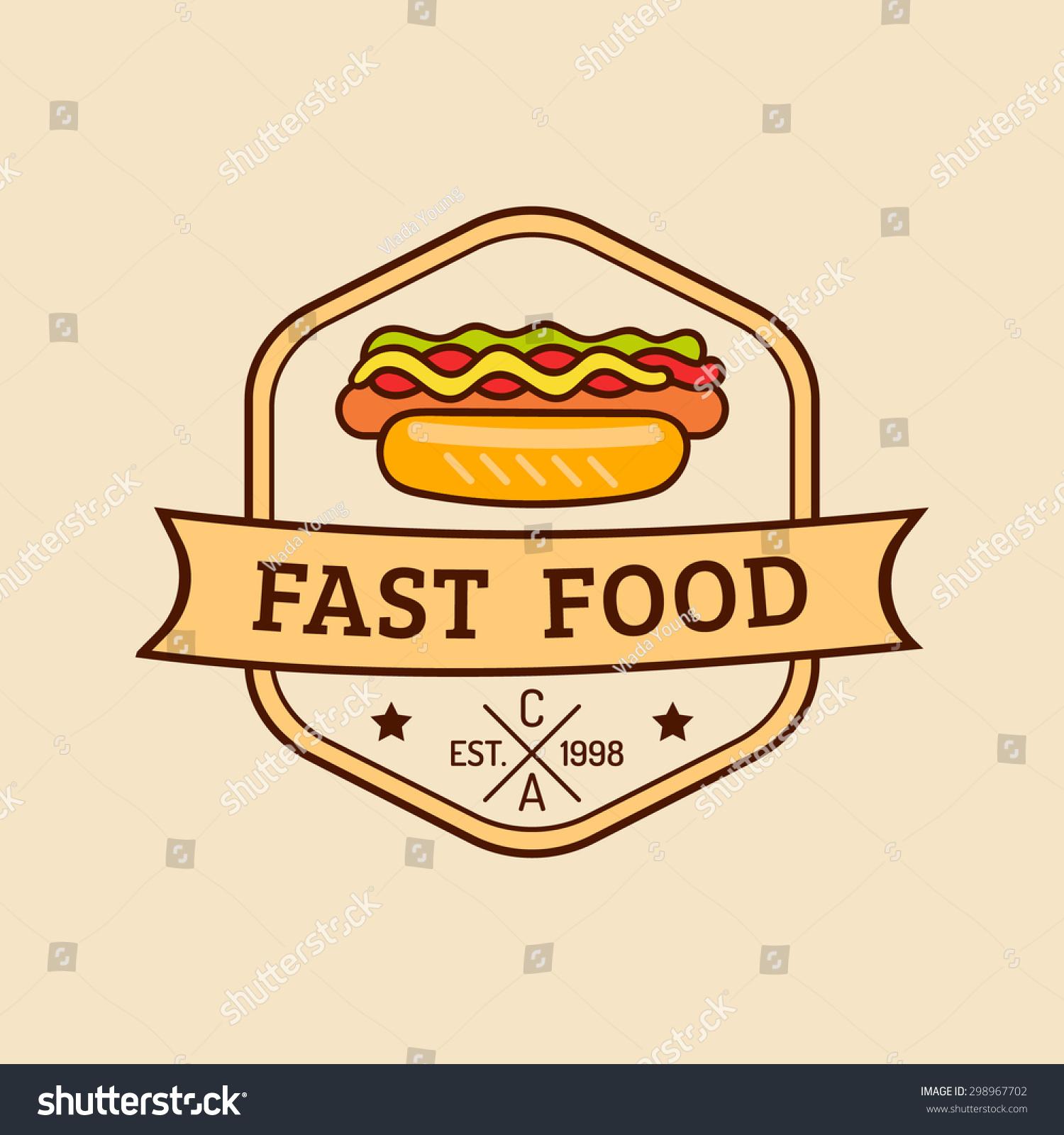 Retro Fast Food Logos