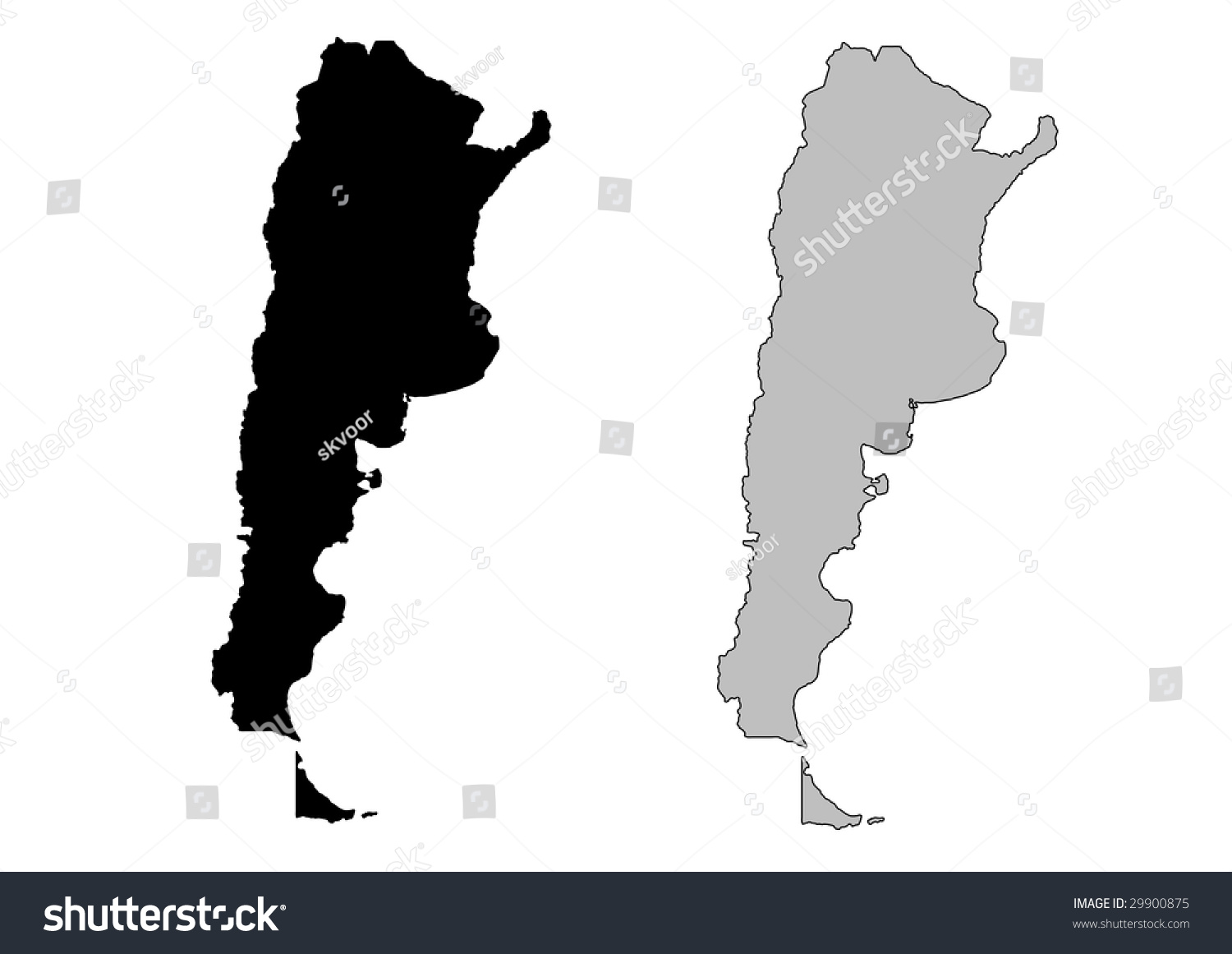 Royaltyfree Argentina Map Black And White Stock - Argentina map black and white
