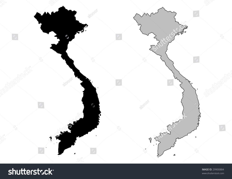 Vietnam Map Black And White | Danielrossi
