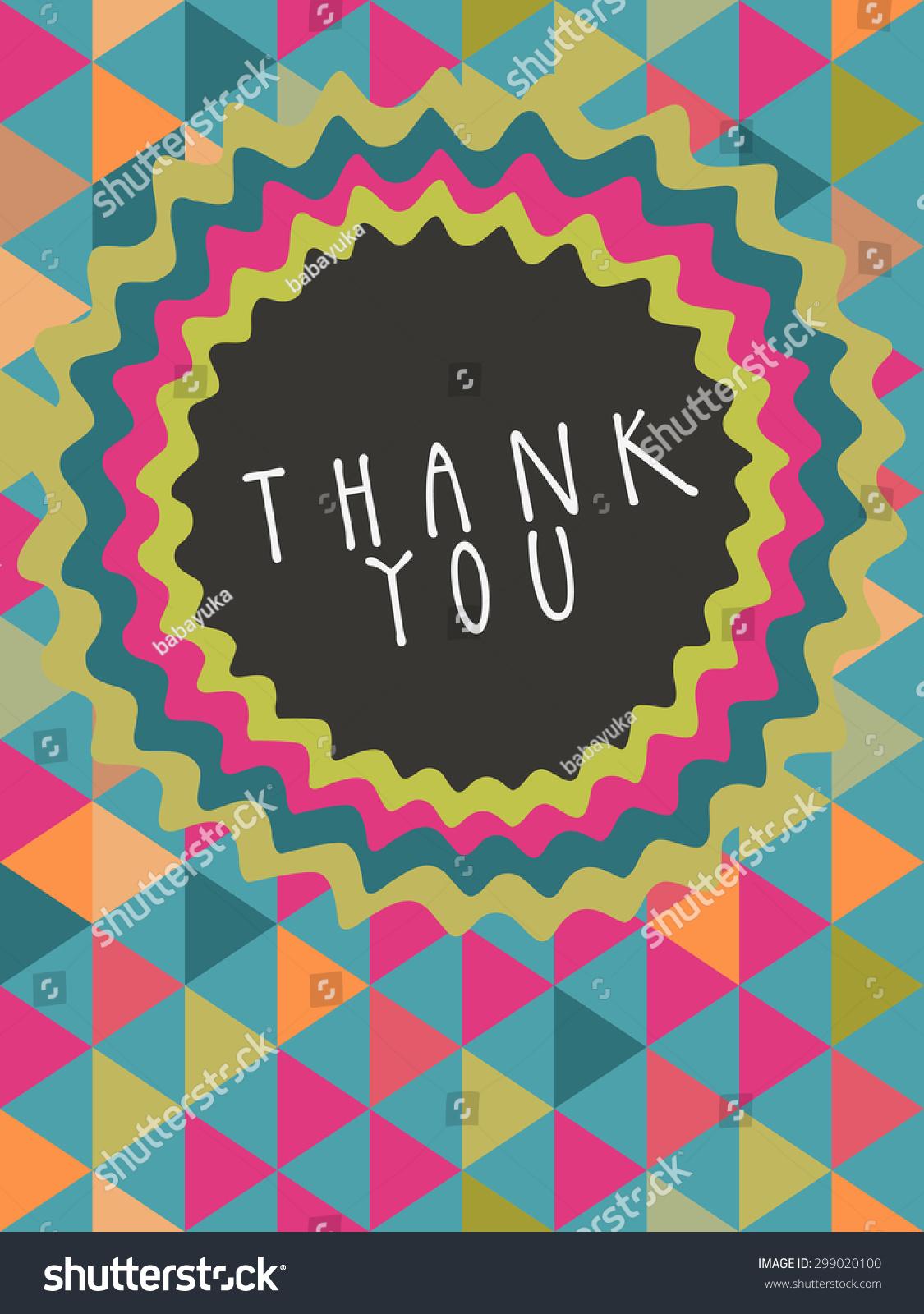 vector thank you card design frame stock vector 299020100